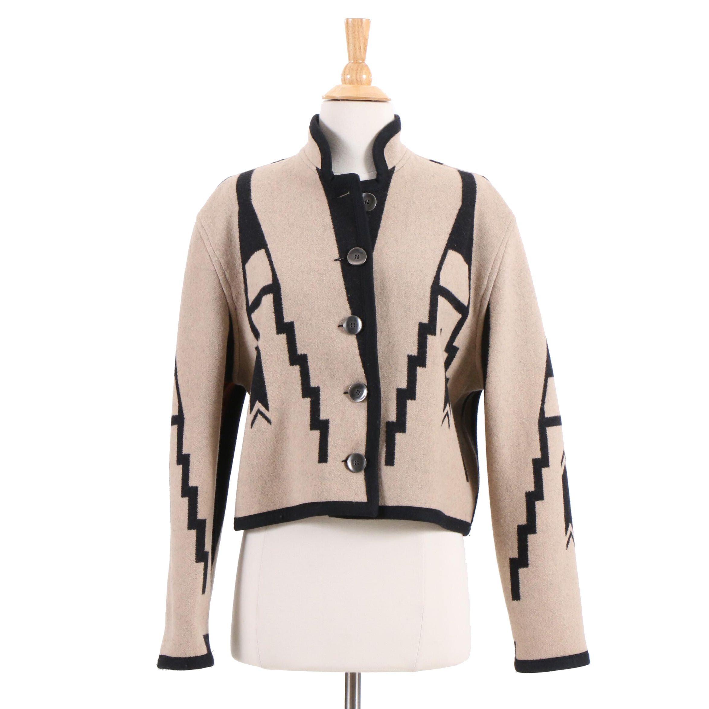 Pendleton Reversible Navajo Print Wool Jacket, Vintage