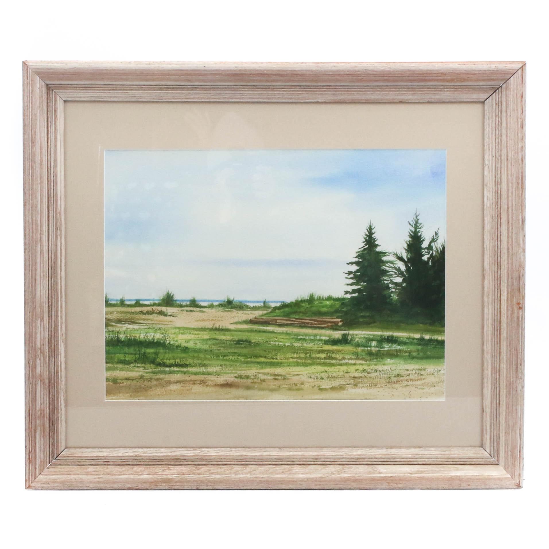 James DeVore Rural Landscape Watercolor Painting