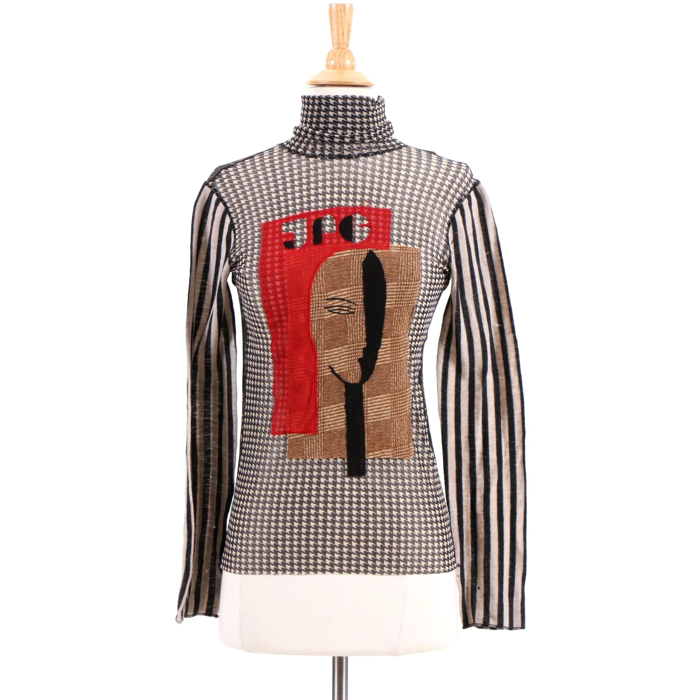 Jean Paul Gaultier Maille Femme Mesh Turtleneck, Made in Italy