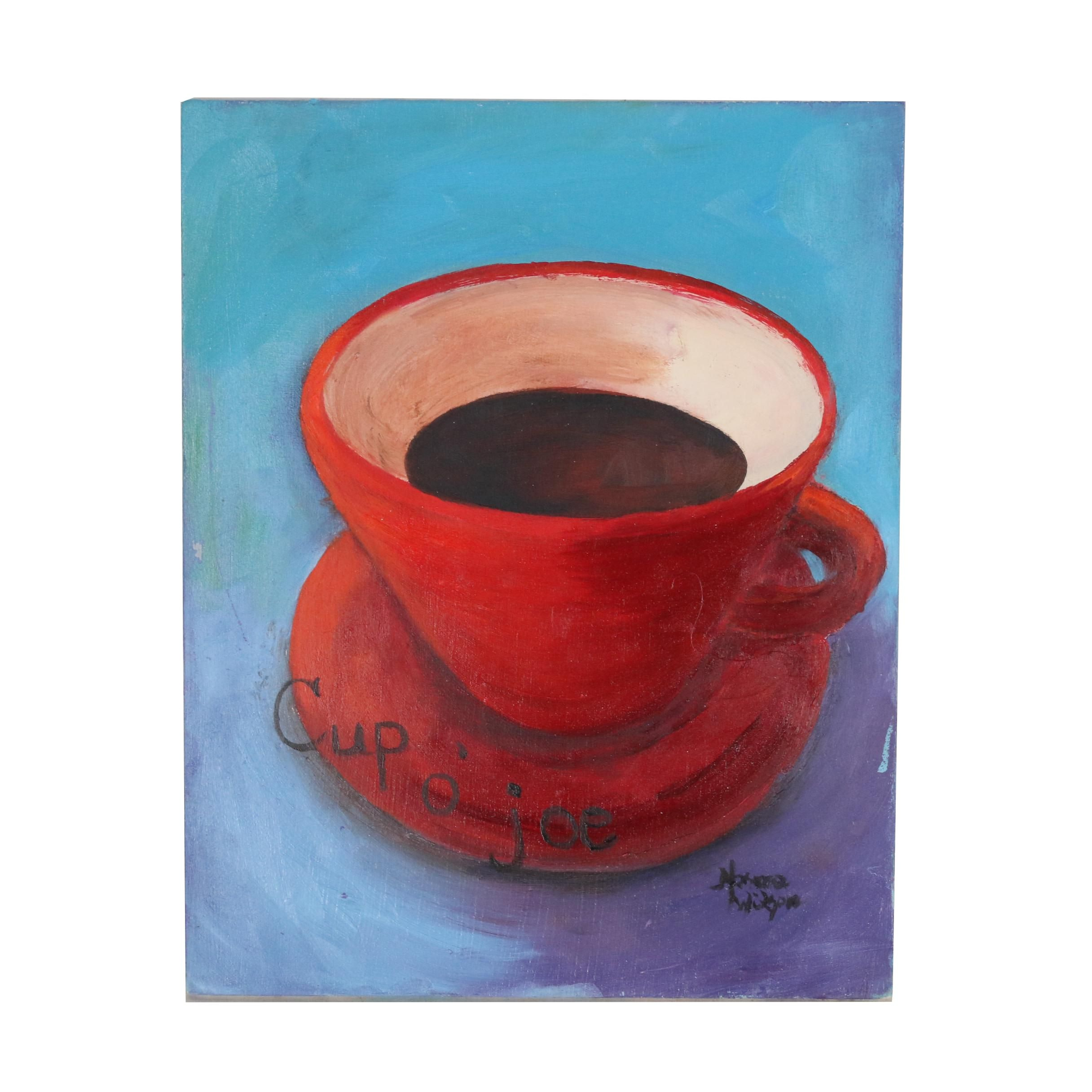 "Norma Wilson Oil Painting ""Cup O' Joe"""