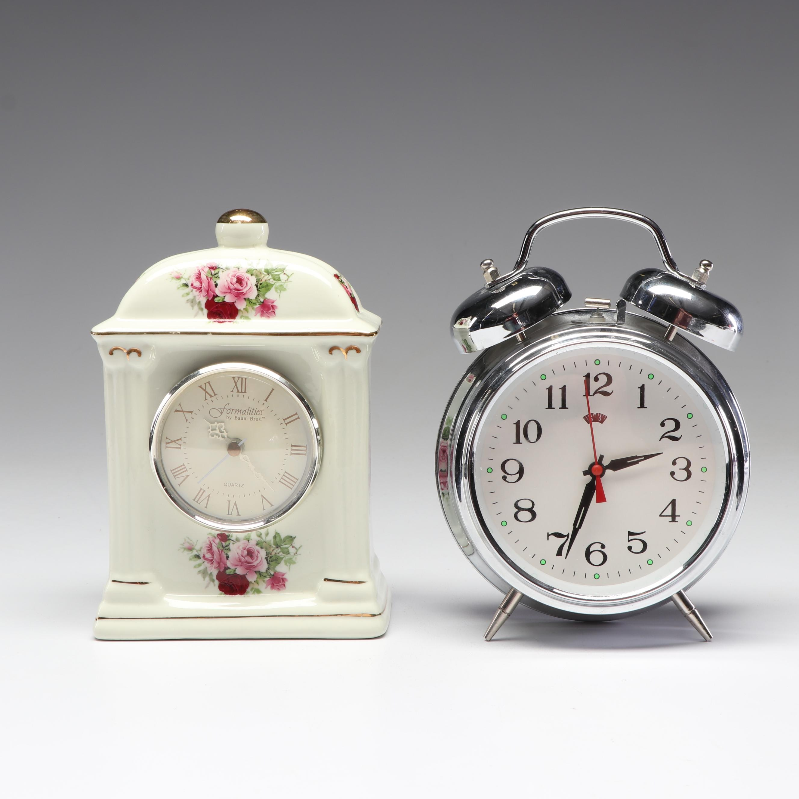 "Table Clocks Including ""Formalities"" by Baum Bros."