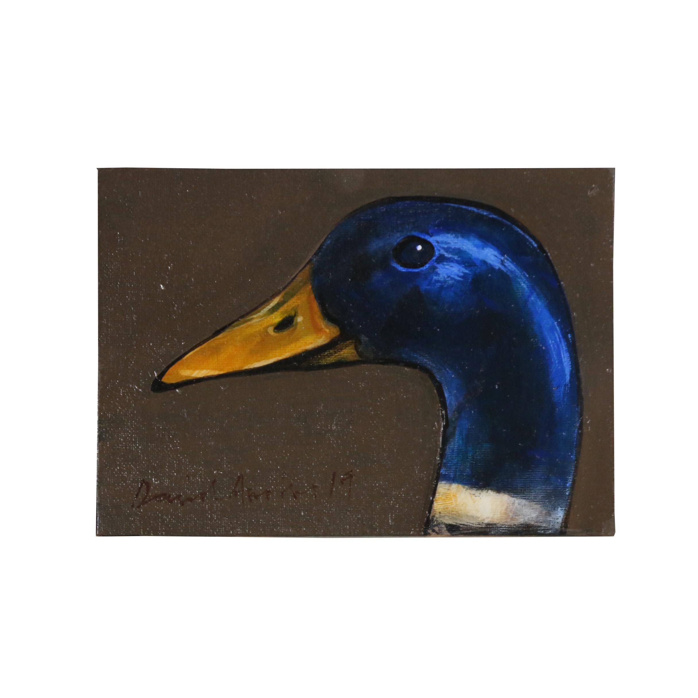 David Andrews Oil Painting of Blue Headed Mallard