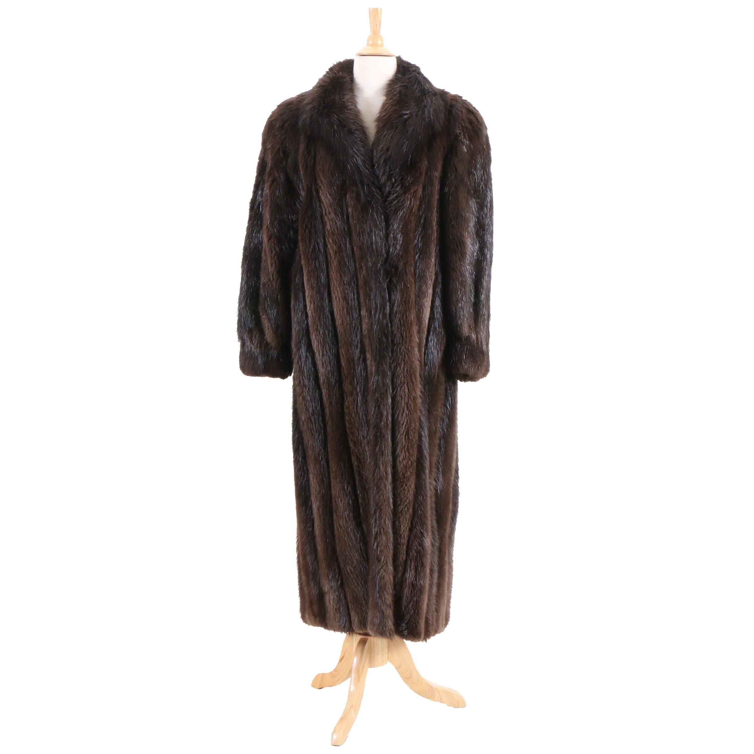 Basile Beaver Fur Coat, Vintage