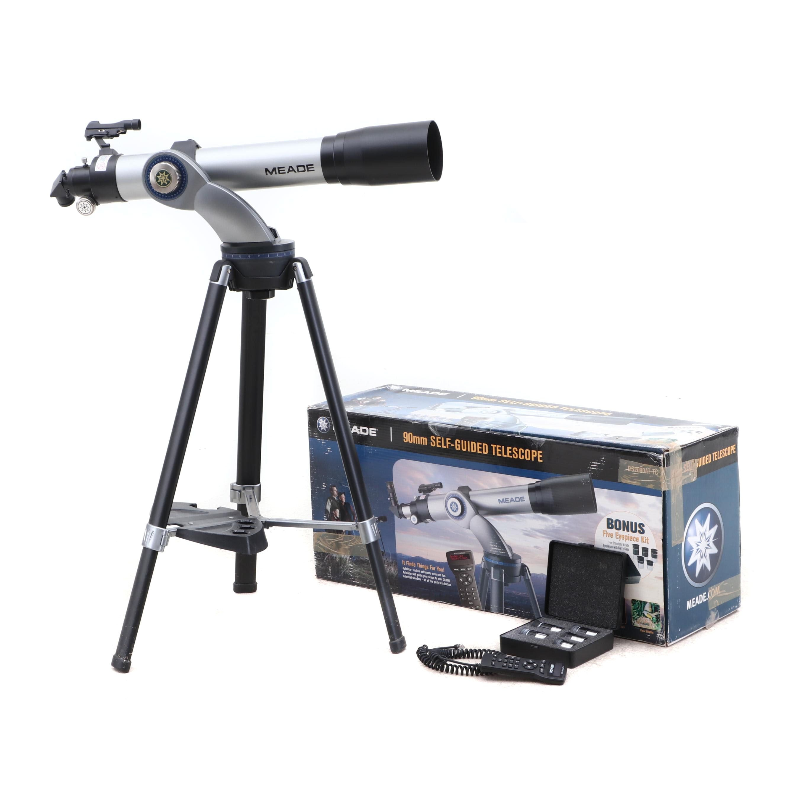 Meade 90mm Self-Guided Telescope with Stand, AutoStar and Bonus Eyepiece Kit