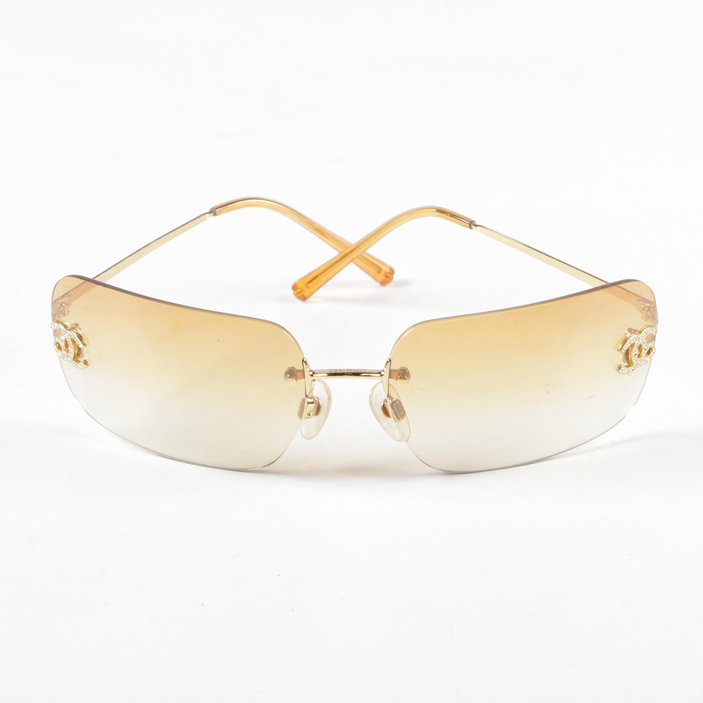 Chanel 4017-D Amber Gradient Rimless Sunglasses