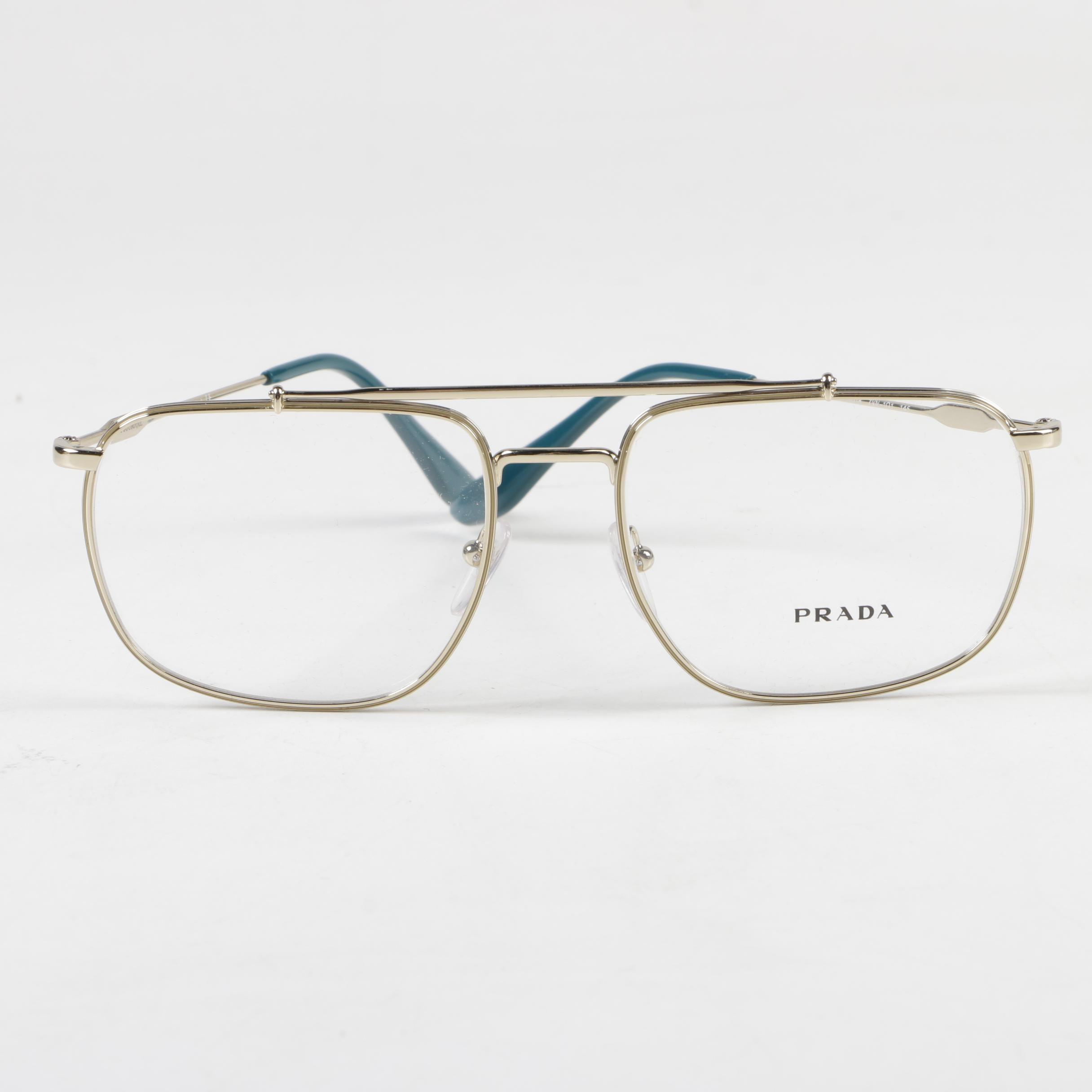Prada VPR 56U Eyeglasses with Case, Made in Italy