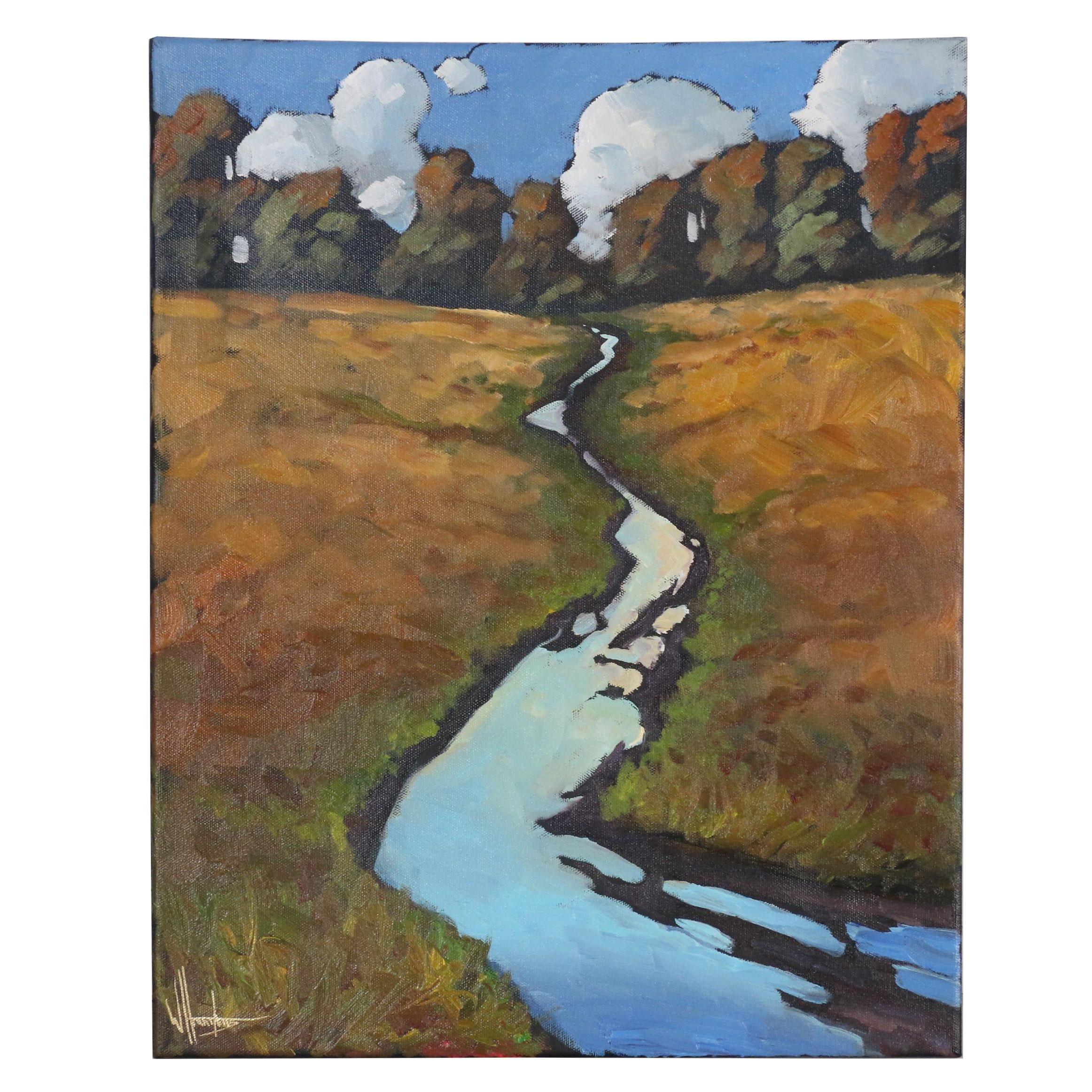 "William Hawkins Oil Painting ""The Rill"""