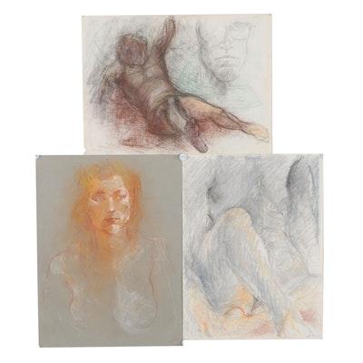 John Tuska Figural Pastel Drawings
