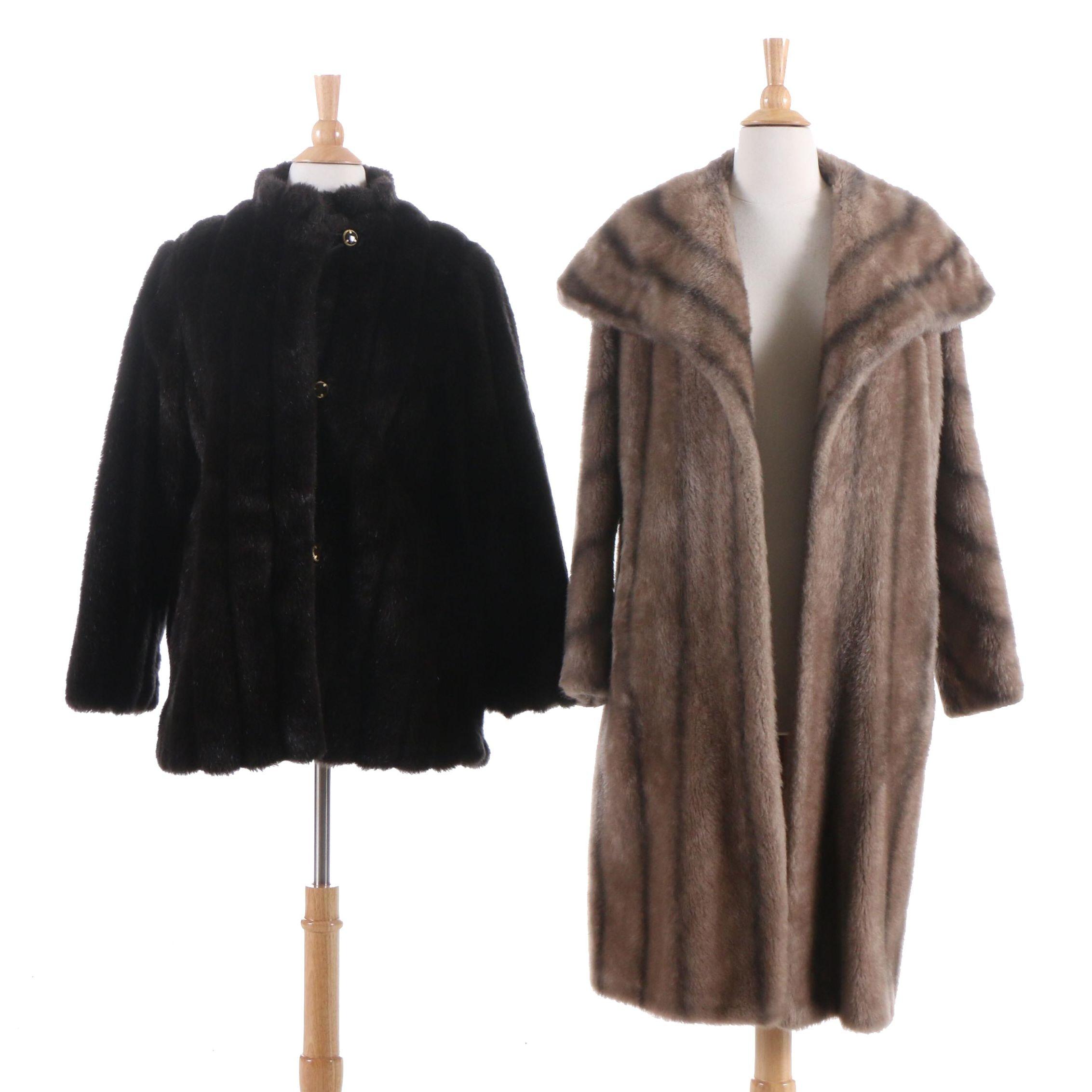 Aristocrat and Wiman Faux Fur Coats, Vintage