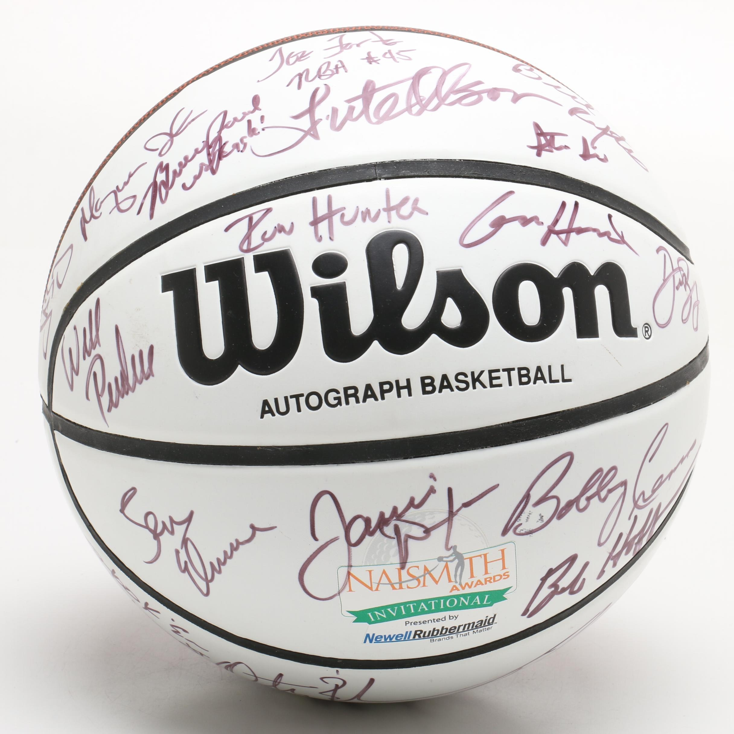 Autographed Wilson Basketball by Eighteen Past NCAA Naismith Award Winners