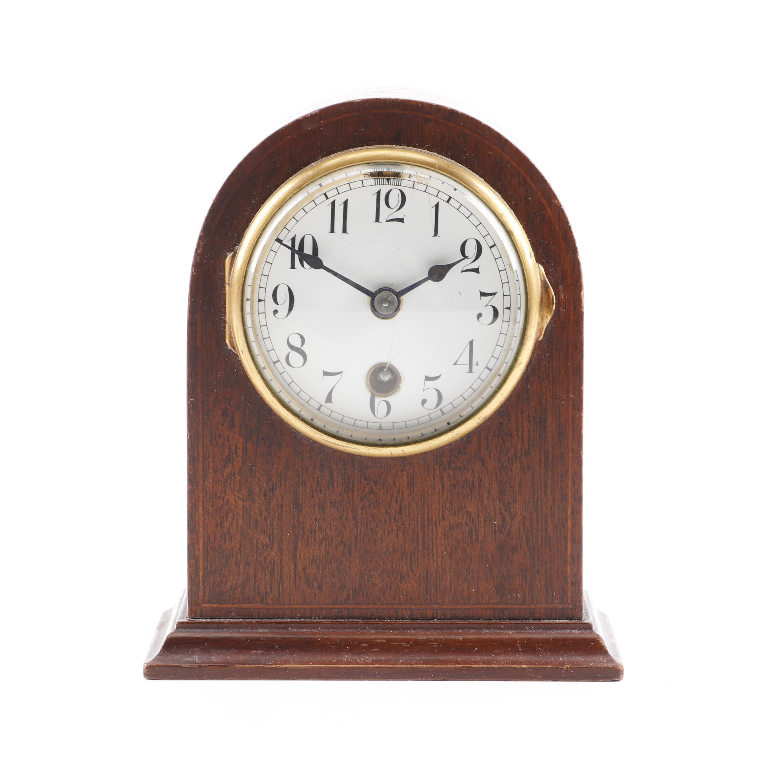 Chelsea Clock Co. Desk Clock with Inlaid Case, 1910-1914