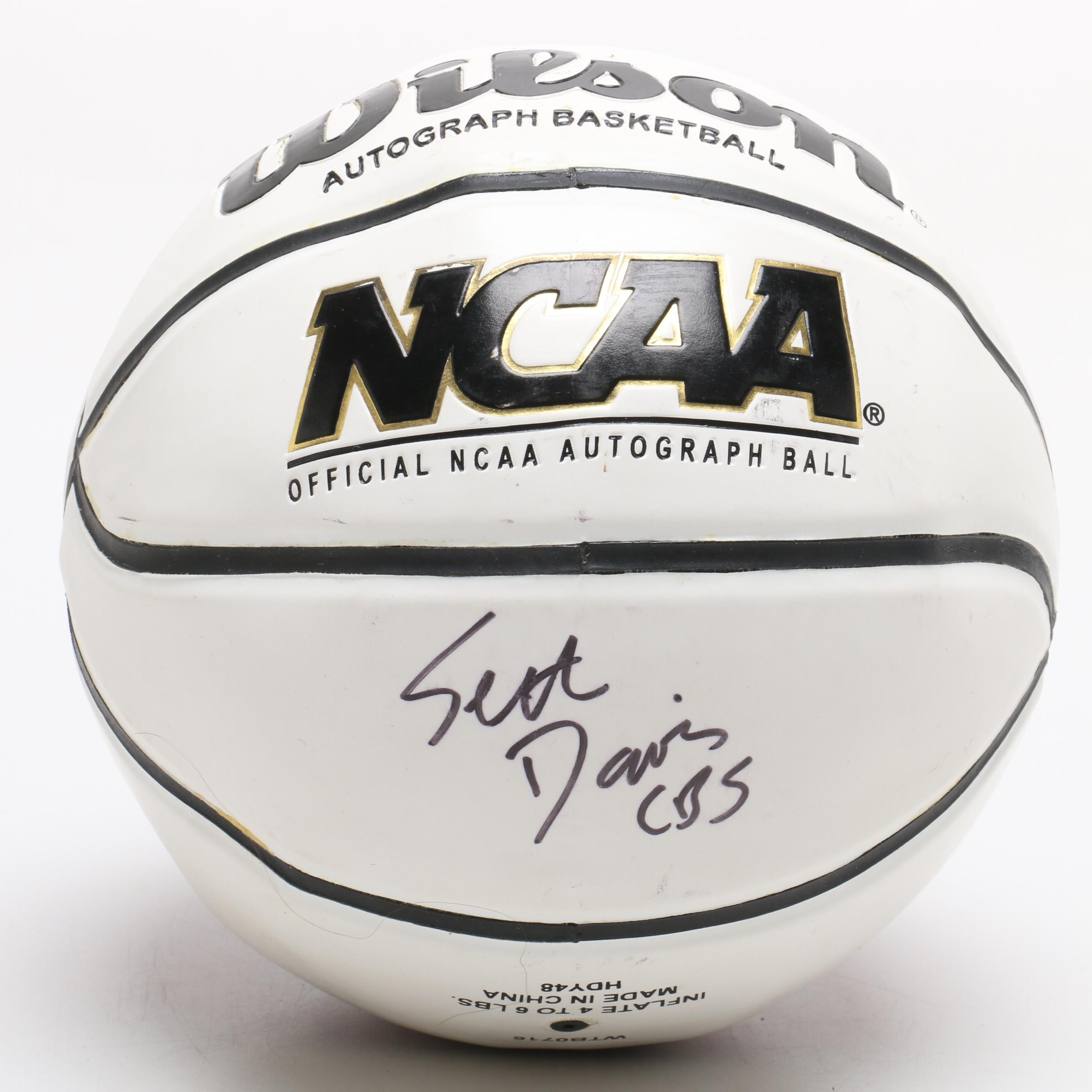 Wilson NCAA Mini Basketball Signed by Battier, Mashburn, and S. Davis/CBS