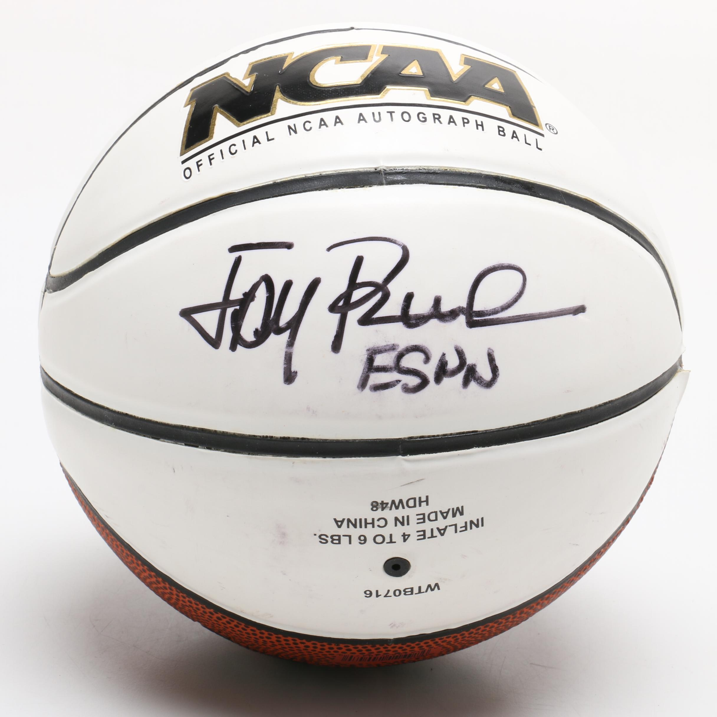 "Jay Bilas Signed Mini Wilson ""Autograph Basketball"""