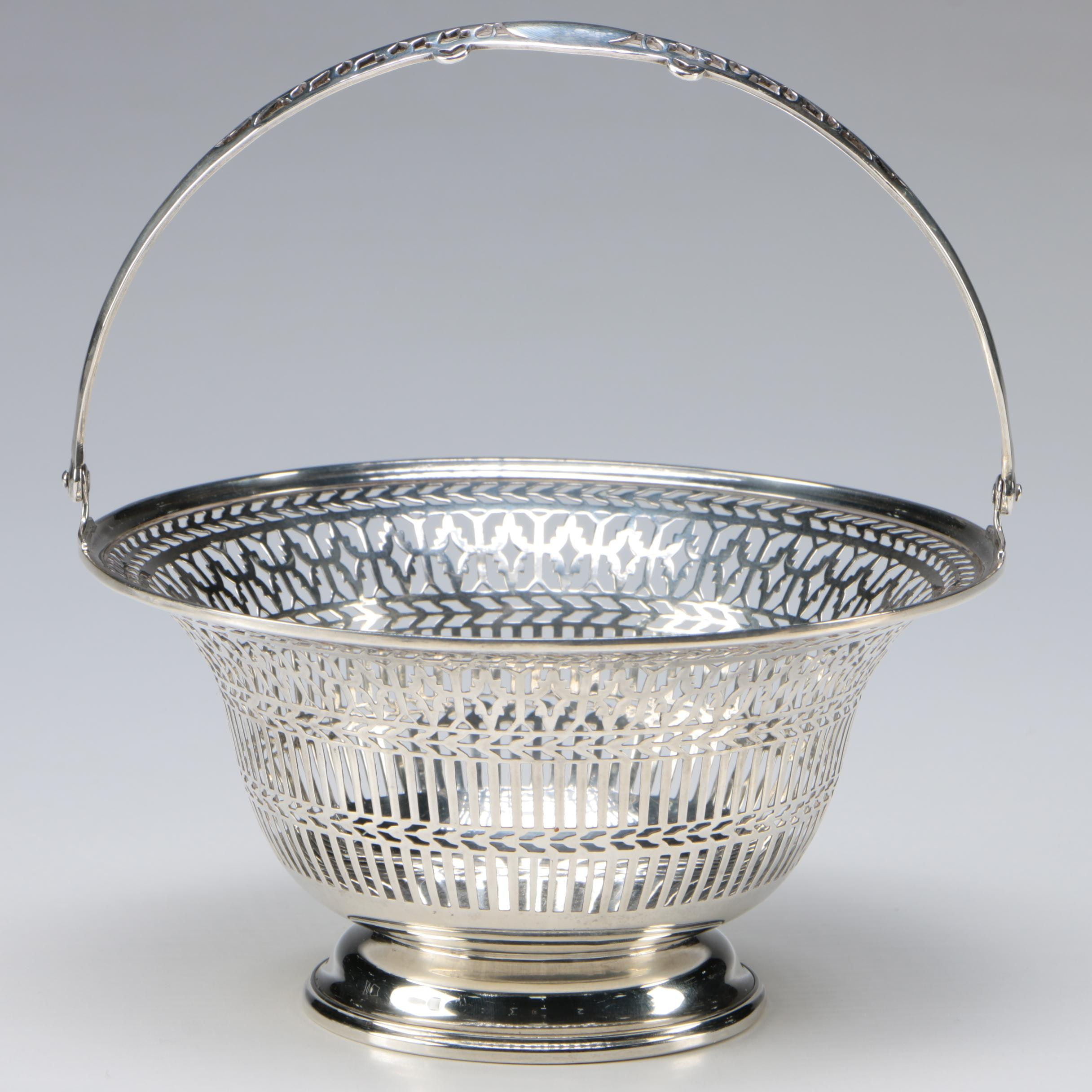 Watson Co. Sterling Silver Reticulated Bride's Basket, Early 20th Century