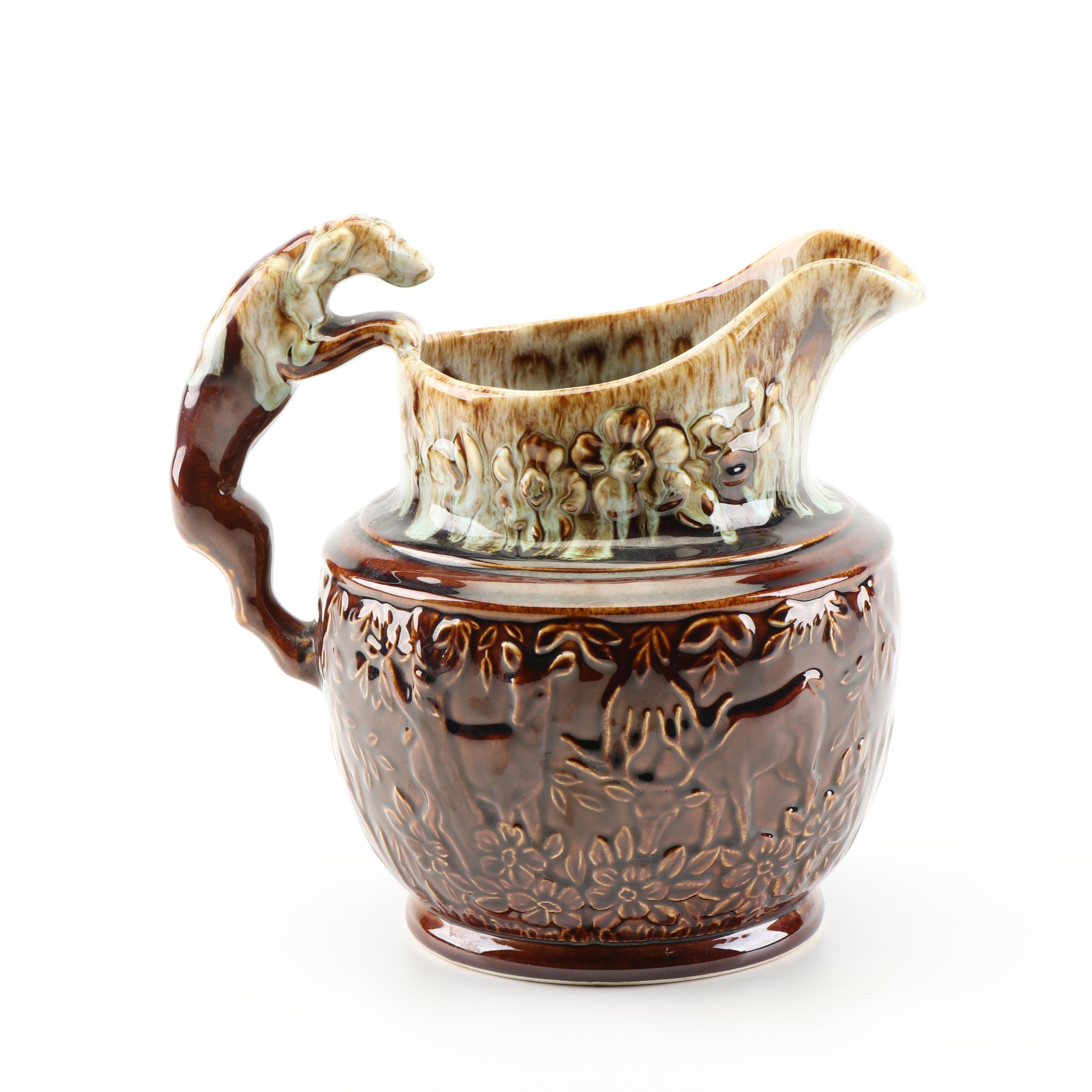 USA Pottery Reproduction Harker Rockingham Pitcher