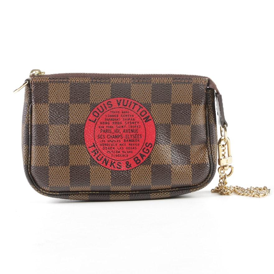 99f5f7bcc0bb Louis Vuitton Limited Edition Trunks   Bags Damier Ebene Mini Pochette  Wristlet   EBTH
