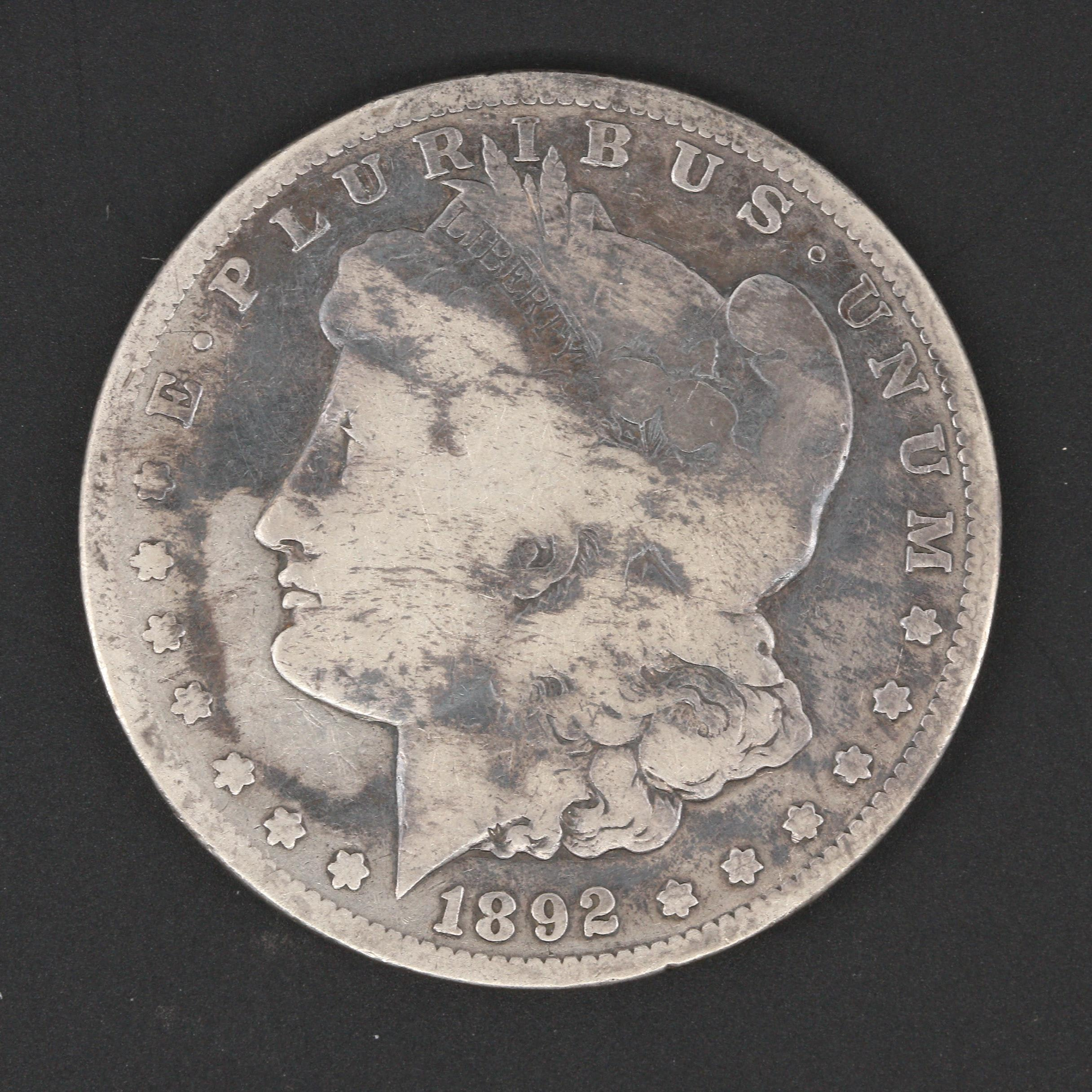 Low Mintage 1892-S Silver Morgan Dollar