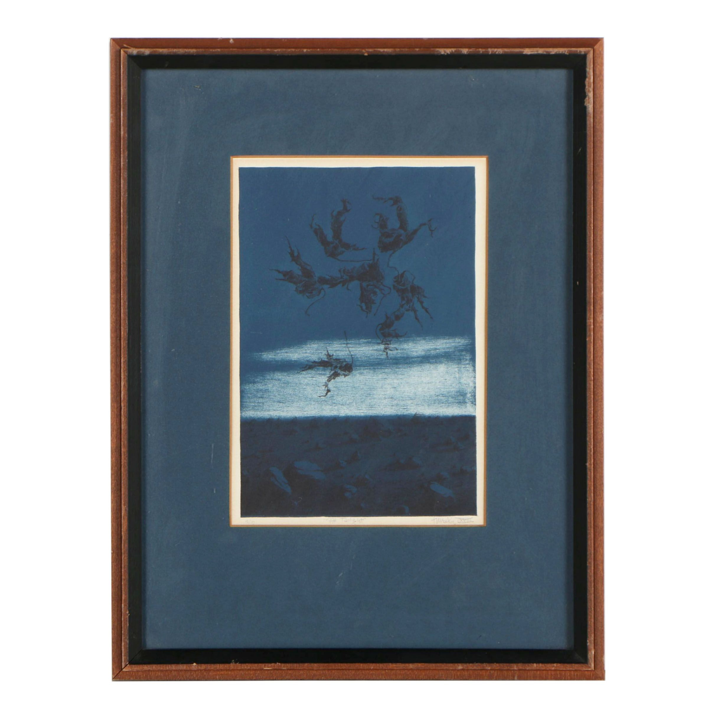 "Paul B. Turecki Lithograph ""At Twilight"""
