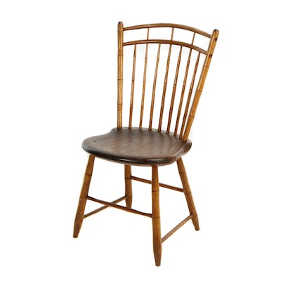 American Birdcage Windsor Side Chair, 19th Century