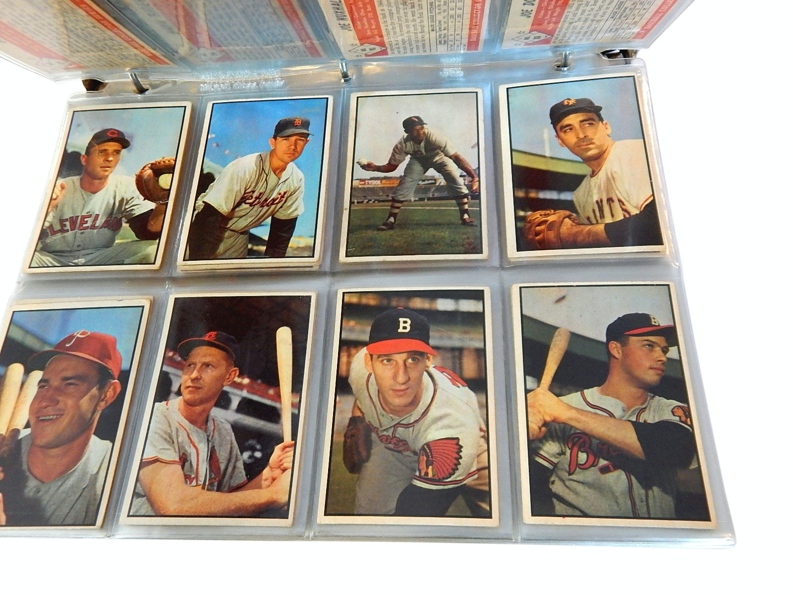 1953 Bowman Baseball Colorized Cards Set, Near Complete