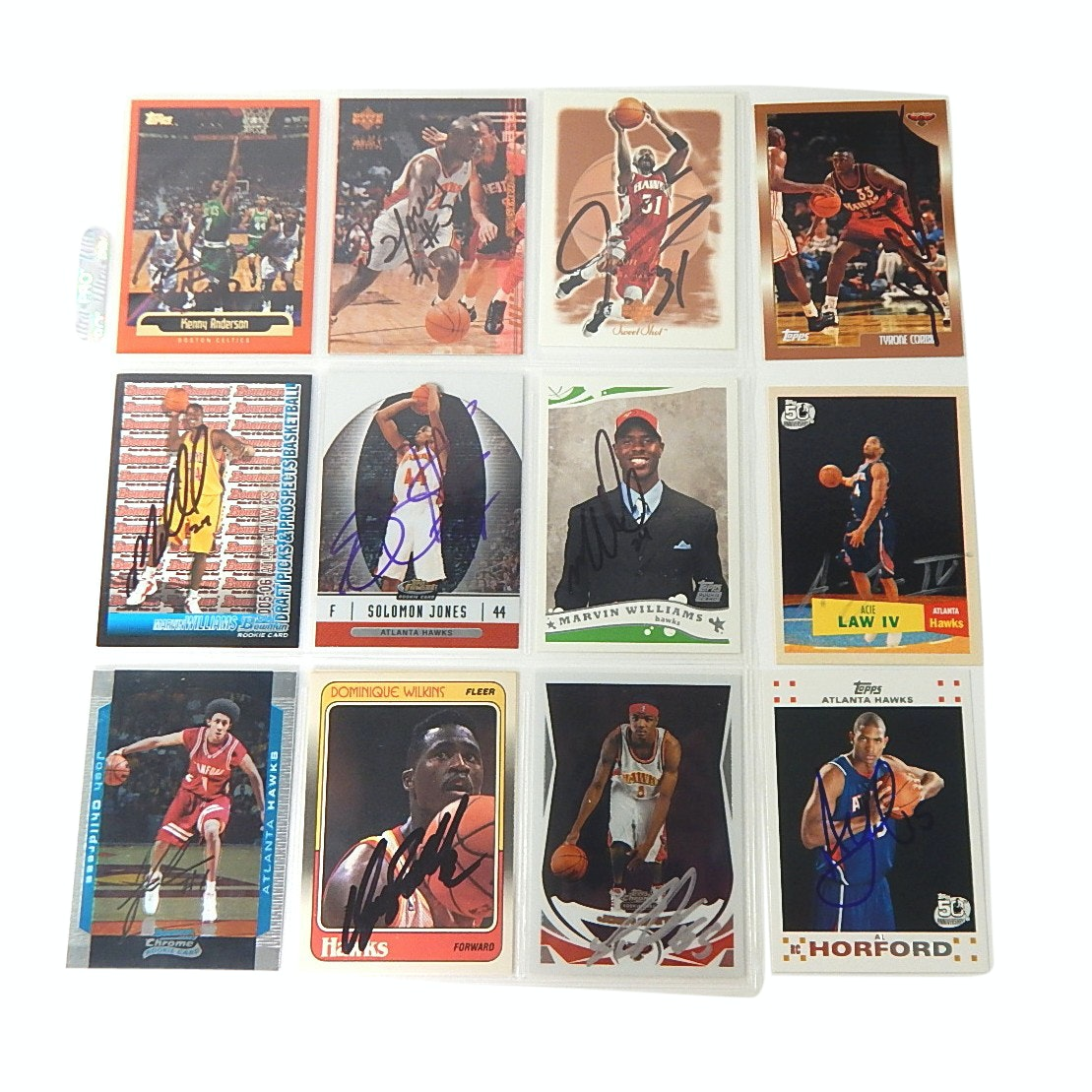 NBA Atlanta Hawks All-Star Autographed Basketball Cards