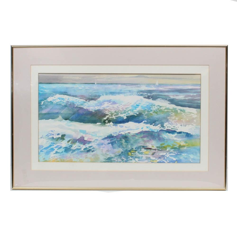 Bonnie Brown Seascape Watercolor Painting