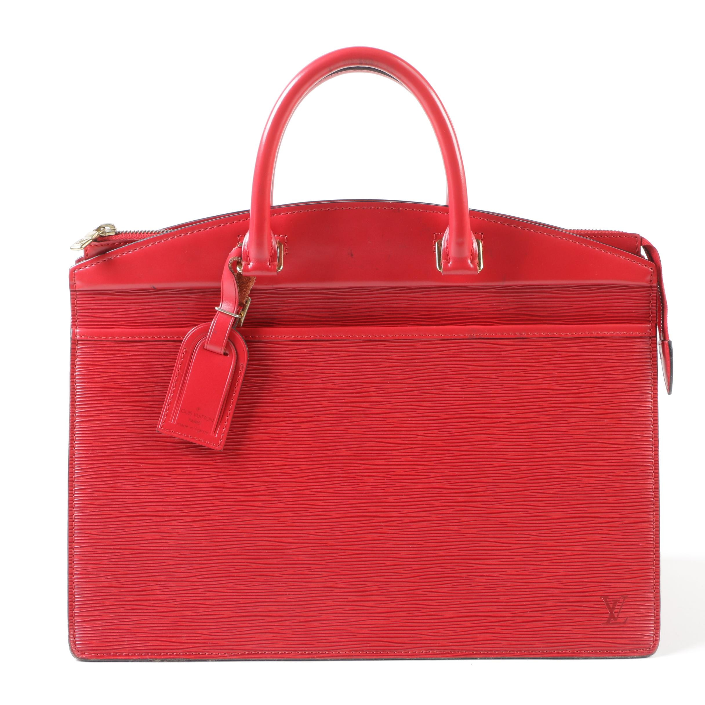 Louis Vuitton Paris Castilian Red Epi Leather Riviera Bag