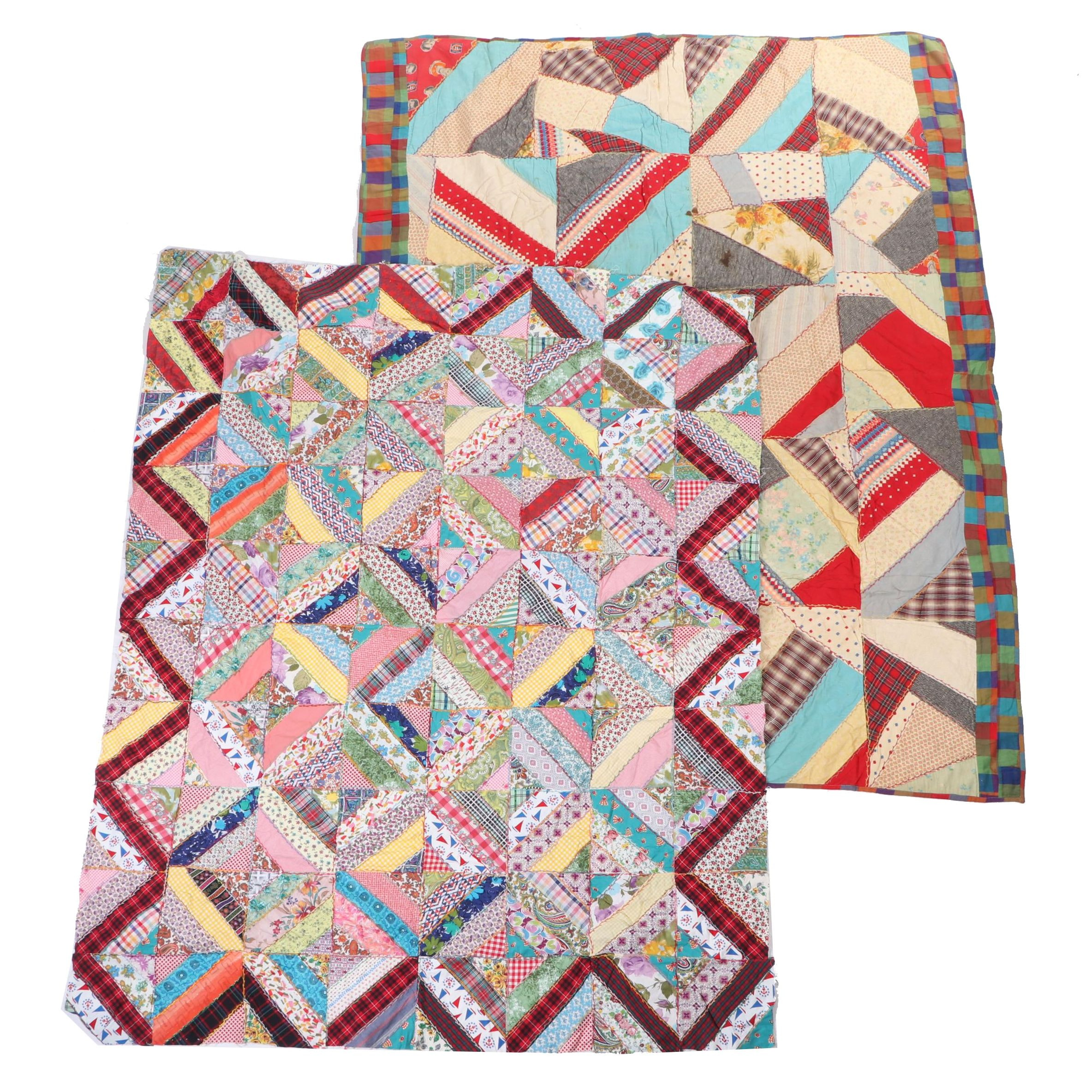 Handmade Patchwork Quilts with Canadians Hockey Players, Early/Mid 20th Century