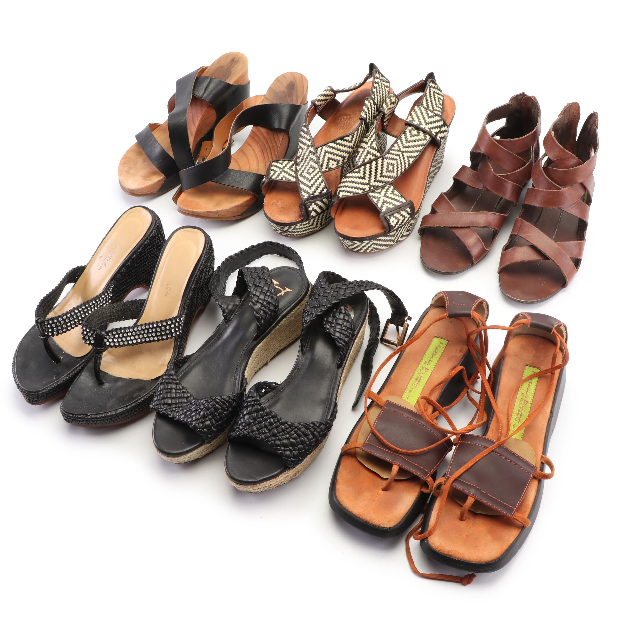 Women's Wedge Shoes Including Vince Camuto and Lucky Brand
