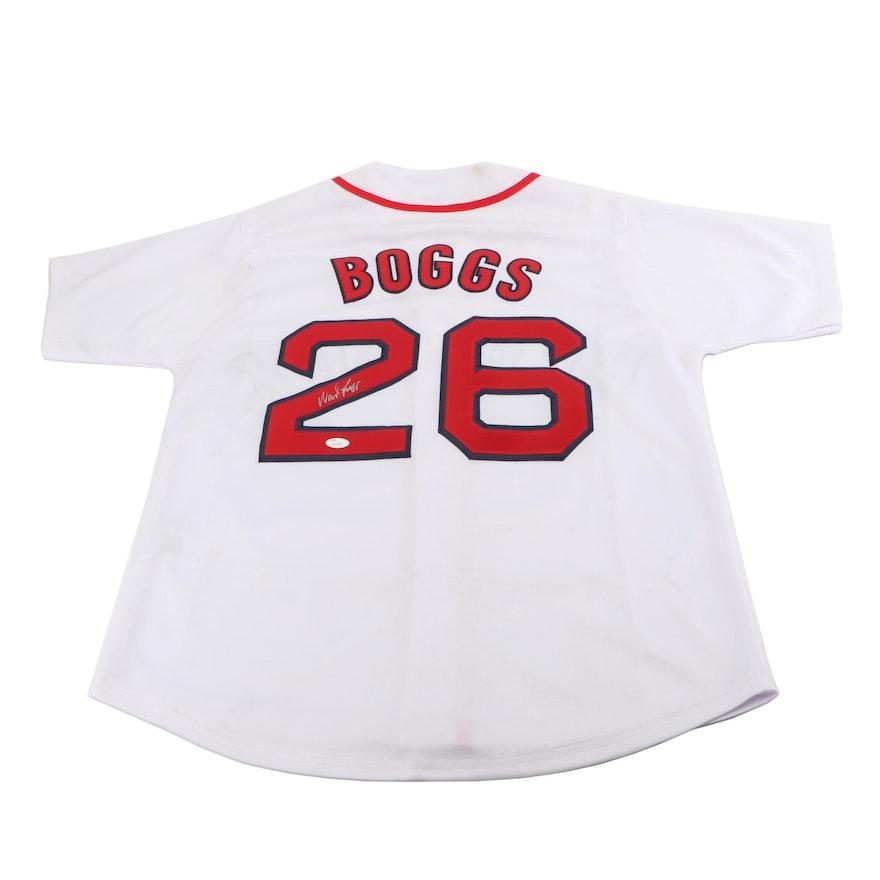 online retailer c76e2 8eee5 Wade Boggs Autographed Boston Red Sox Replica Jersey JSA COA