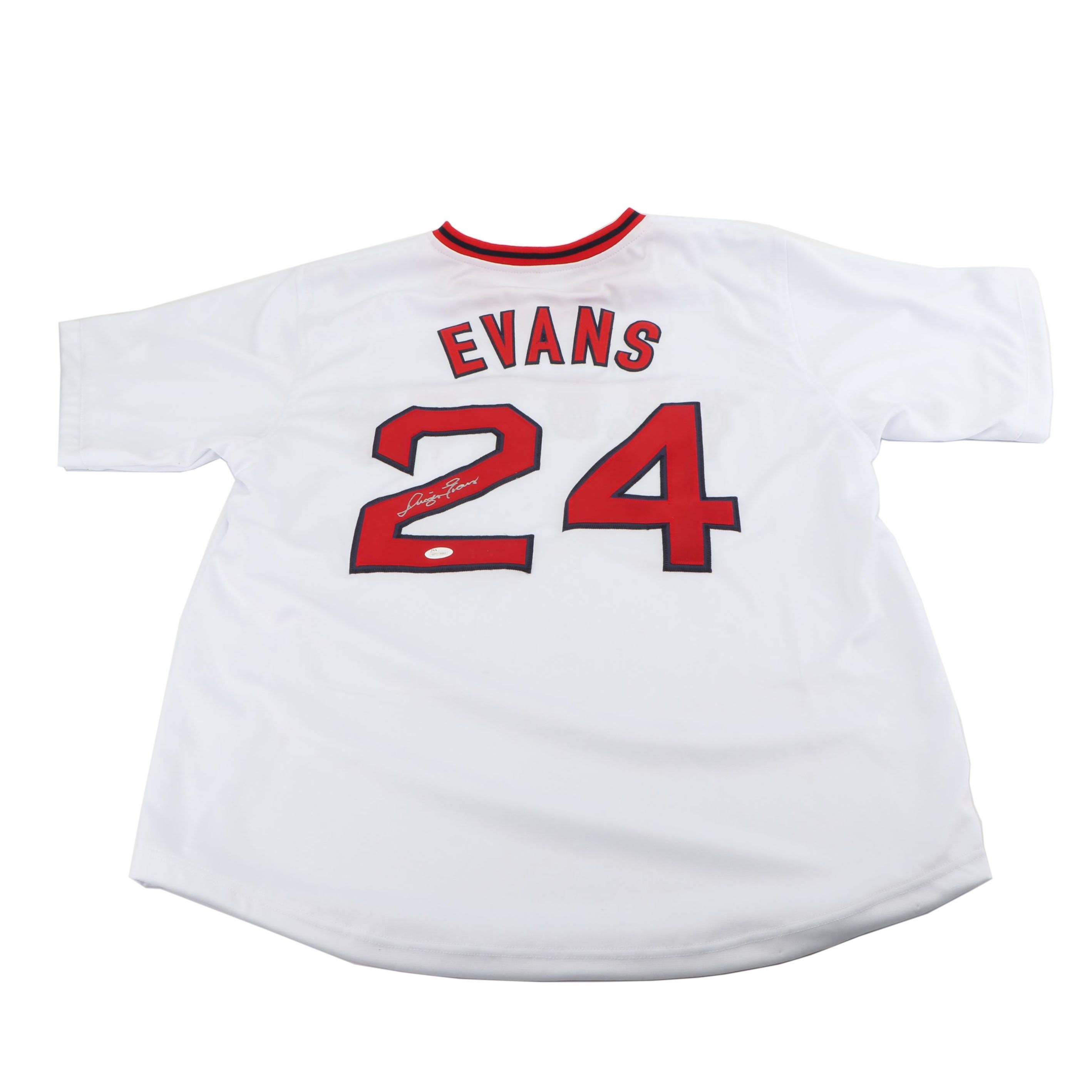 Dwight Evans Autographed Boston Red Sox Replica Jersey