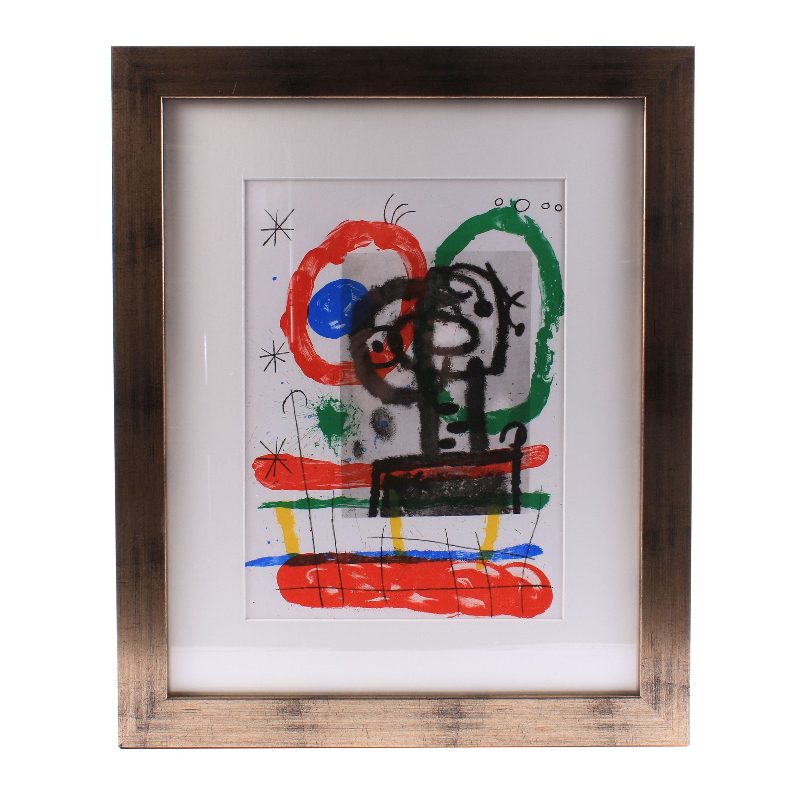 "Joan Miro Color Lithograph from ""Derrière le Miroir"""