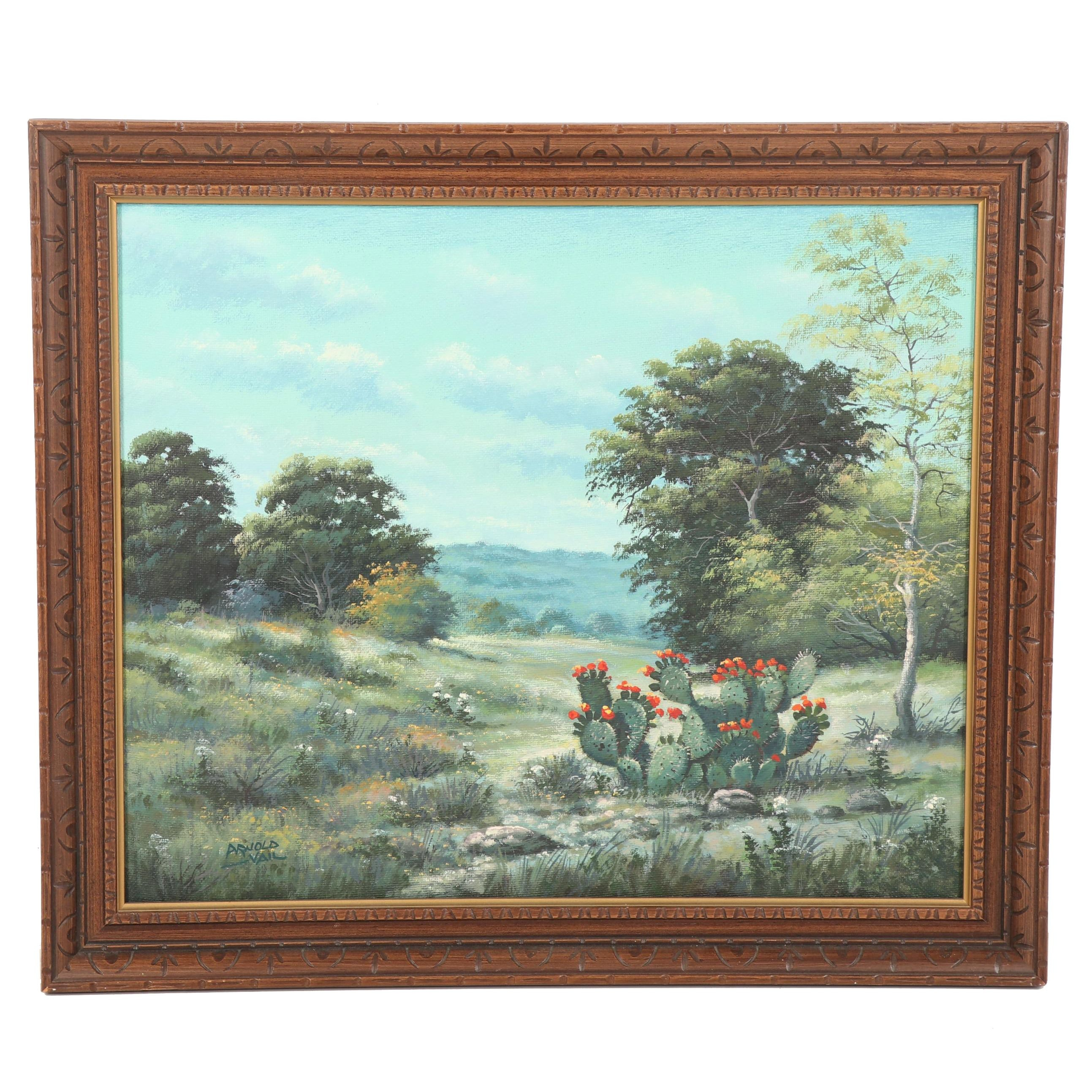 Arnold Vail Southwestern Landscape Oil Painting