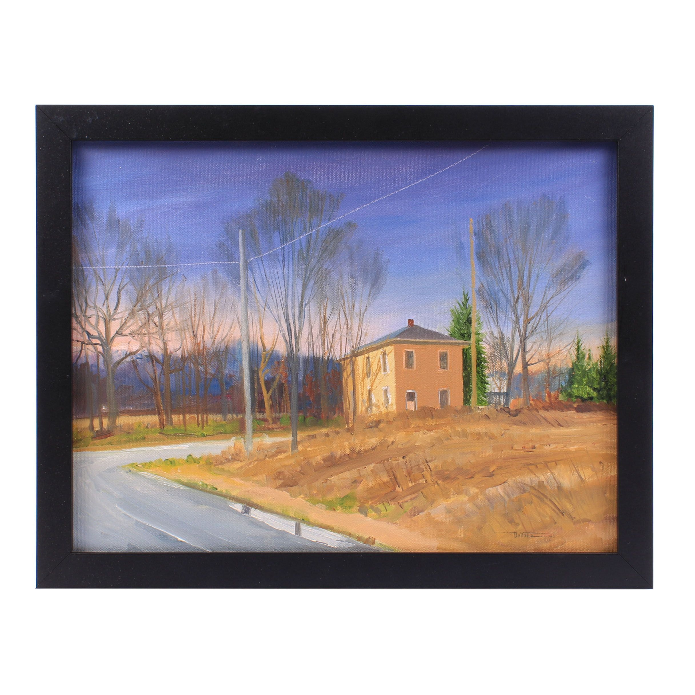James DeVore Sunset Landscape Oil Painting