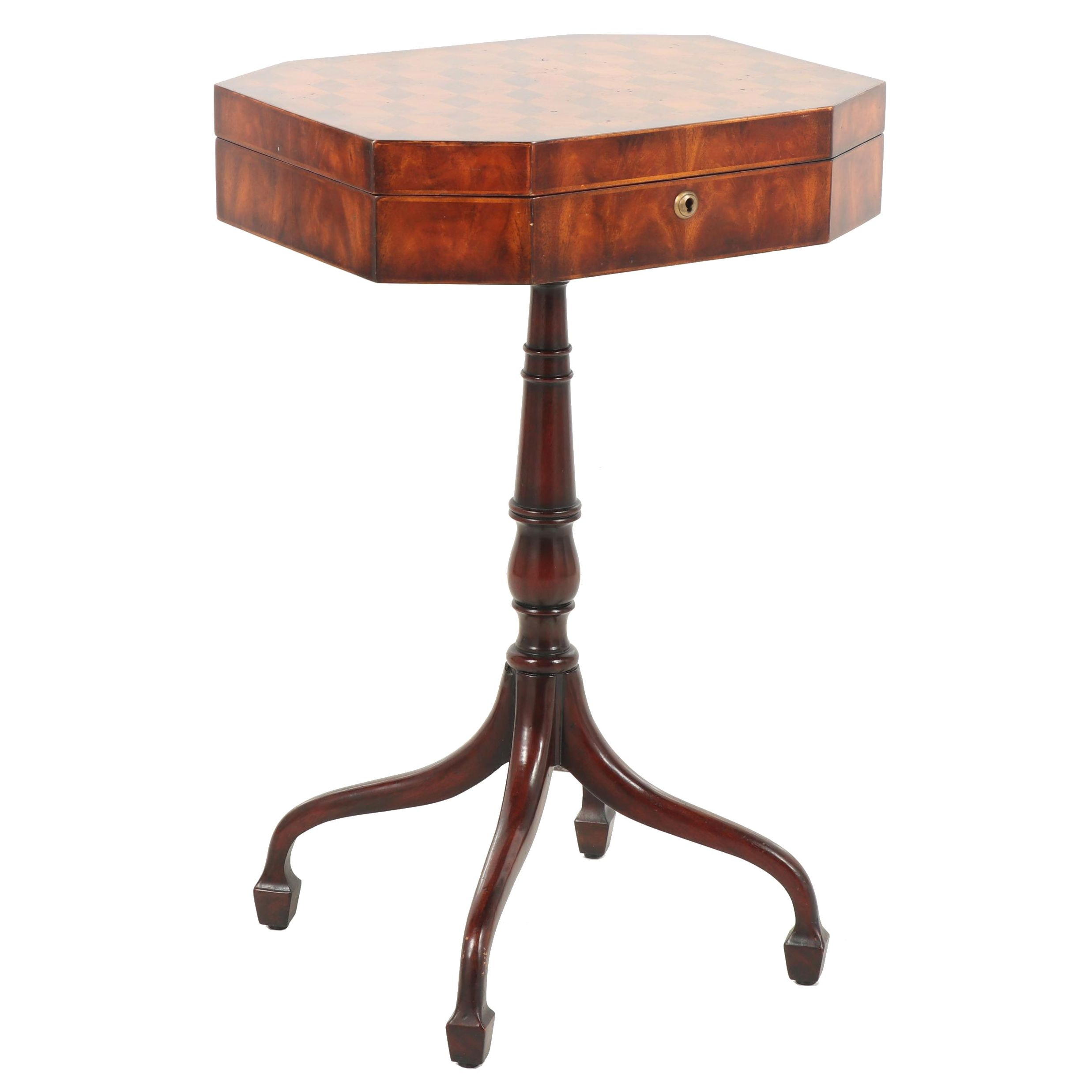 George IV Style Specimen Wood Work Table, Circa 1950