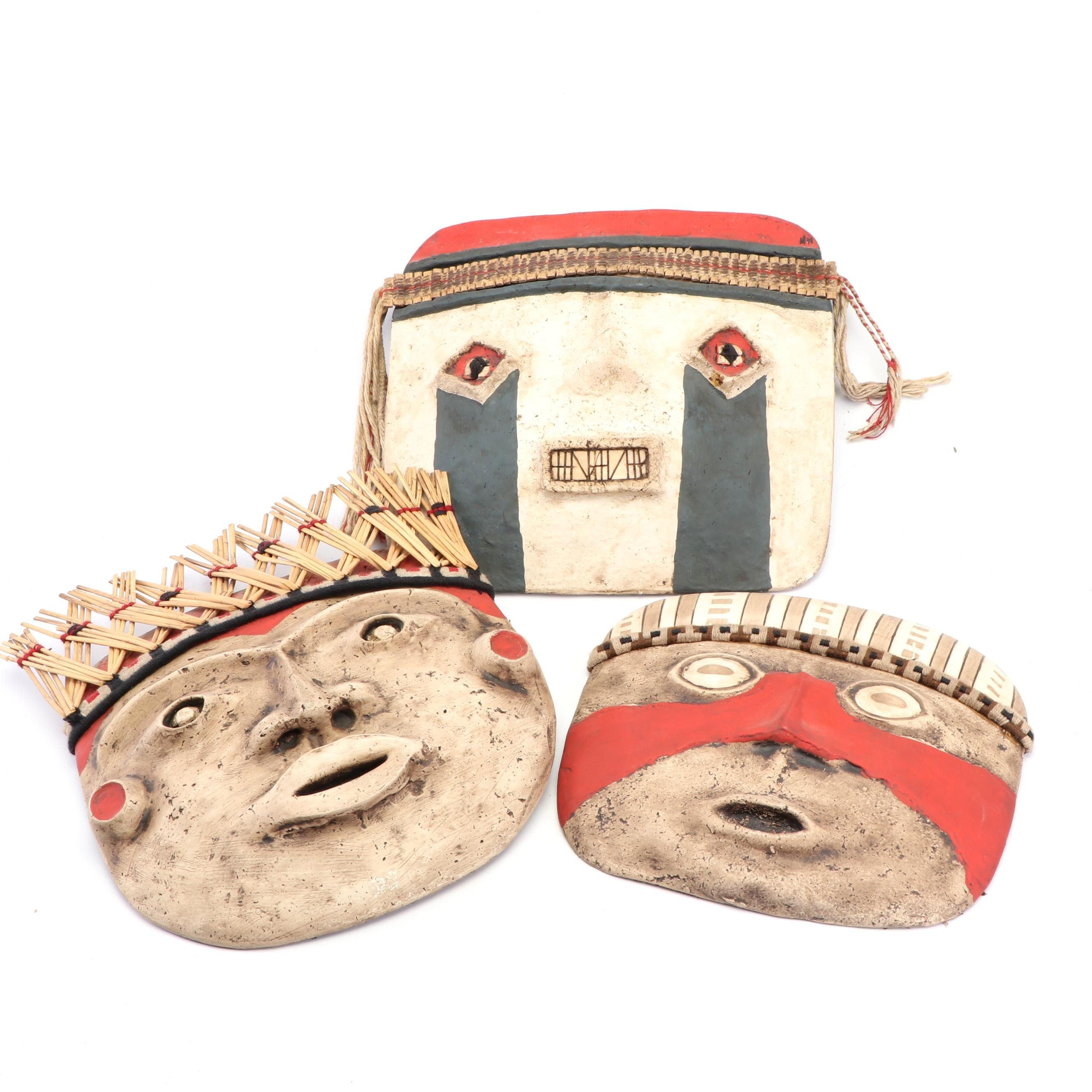 Handmade Peruvian Papier-mâché Mask Wall Hangings