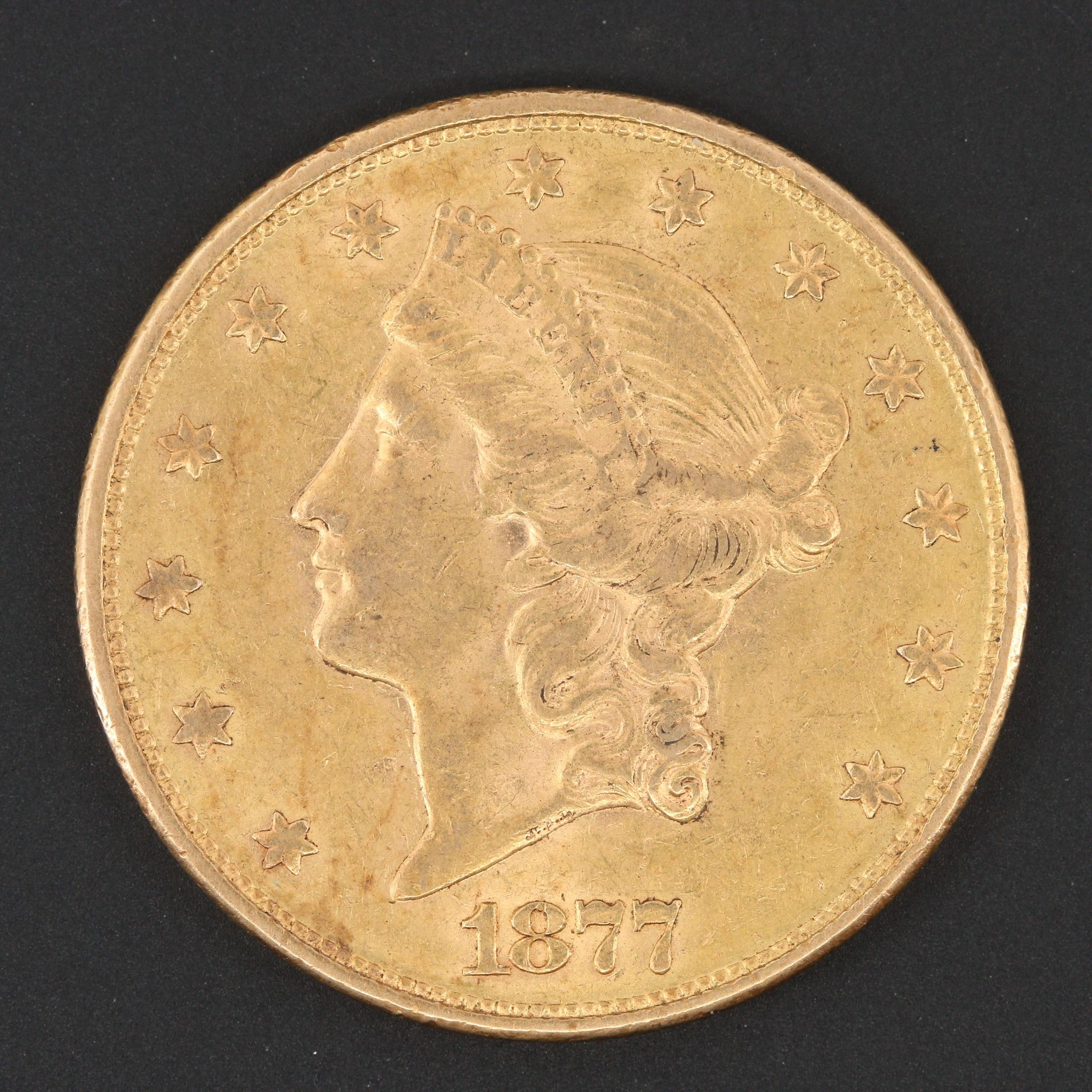 1877-S Liberty Head $20 Gold Coin