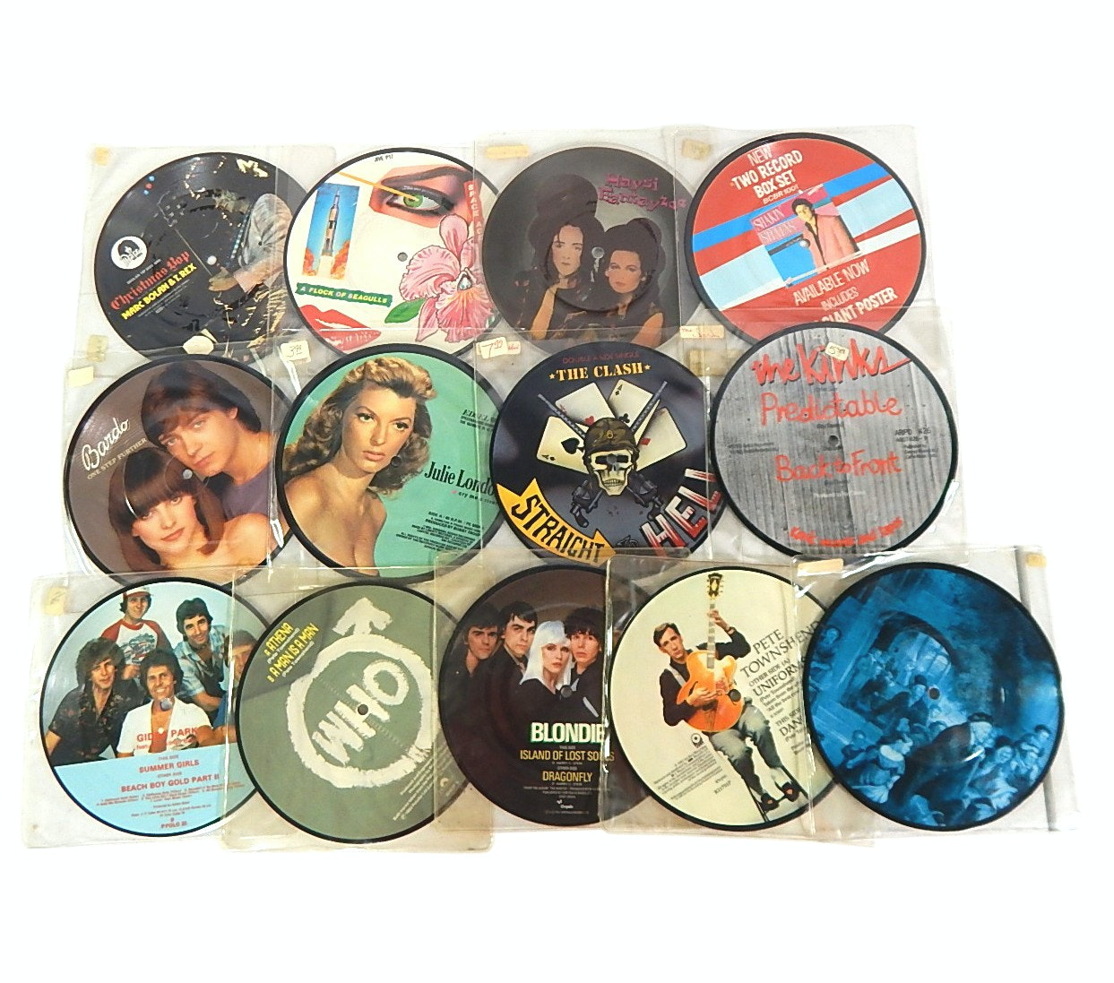 1980s 45 RPM Picture Discs with Pete Townshend, Blondie, The Clash, Who, More
