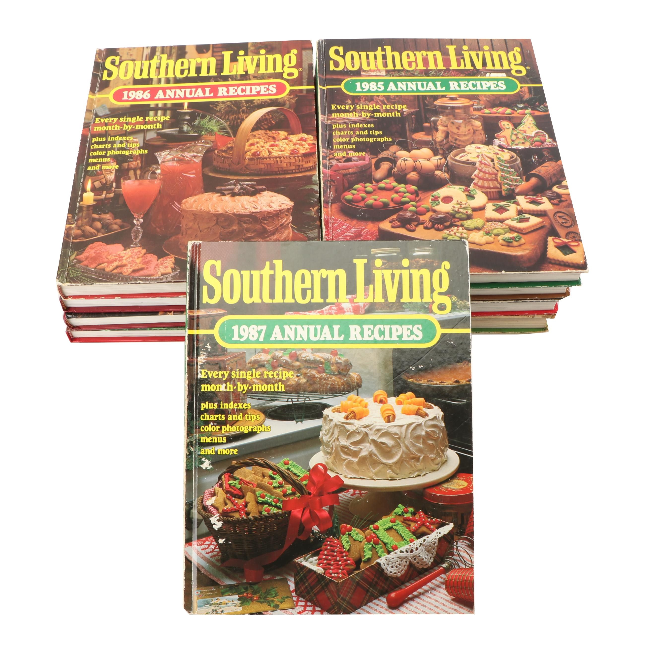"""Southern Living"" Annual Recipes Cook Books"