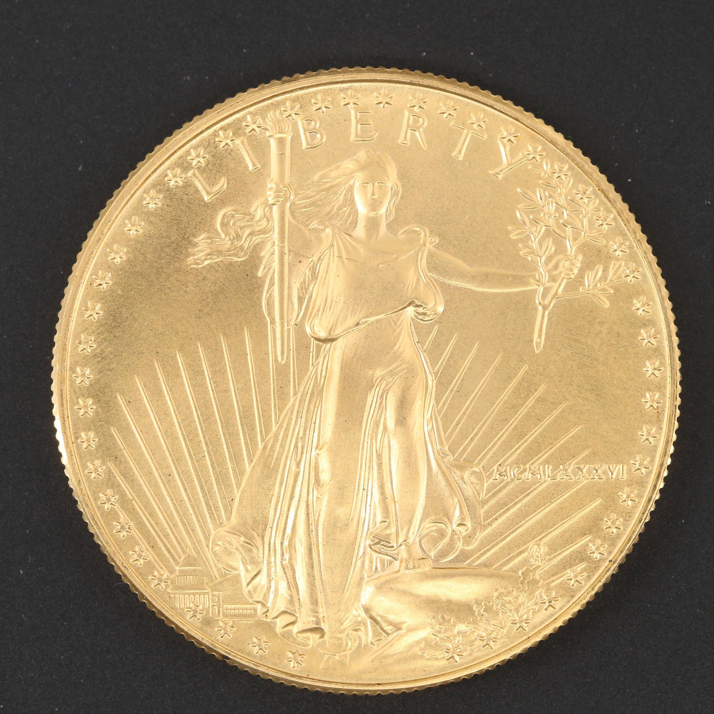 1986 First Year of Issue $50 Gold American Eagle