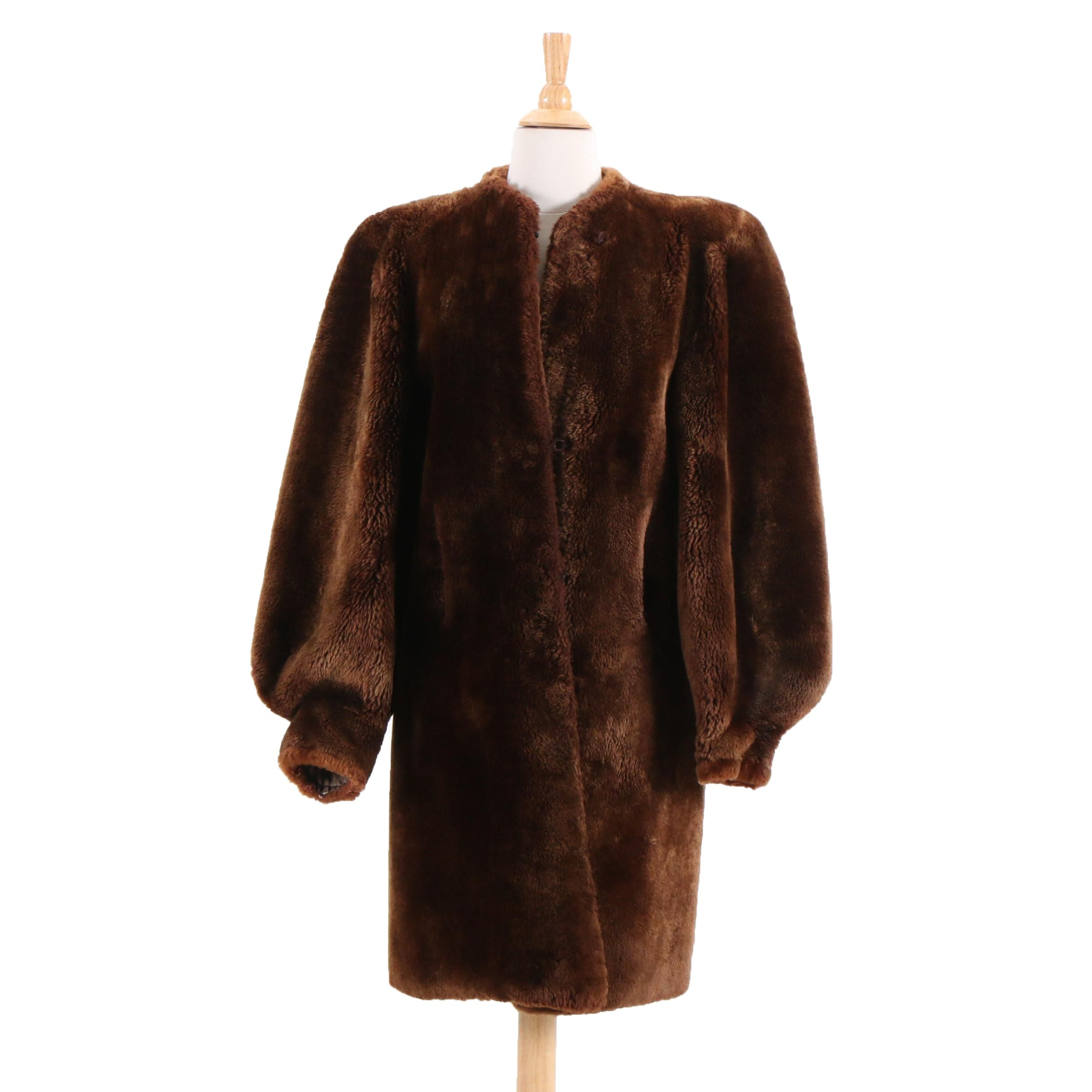 Stanley Rich Mouton Fur Coat, circa 1940