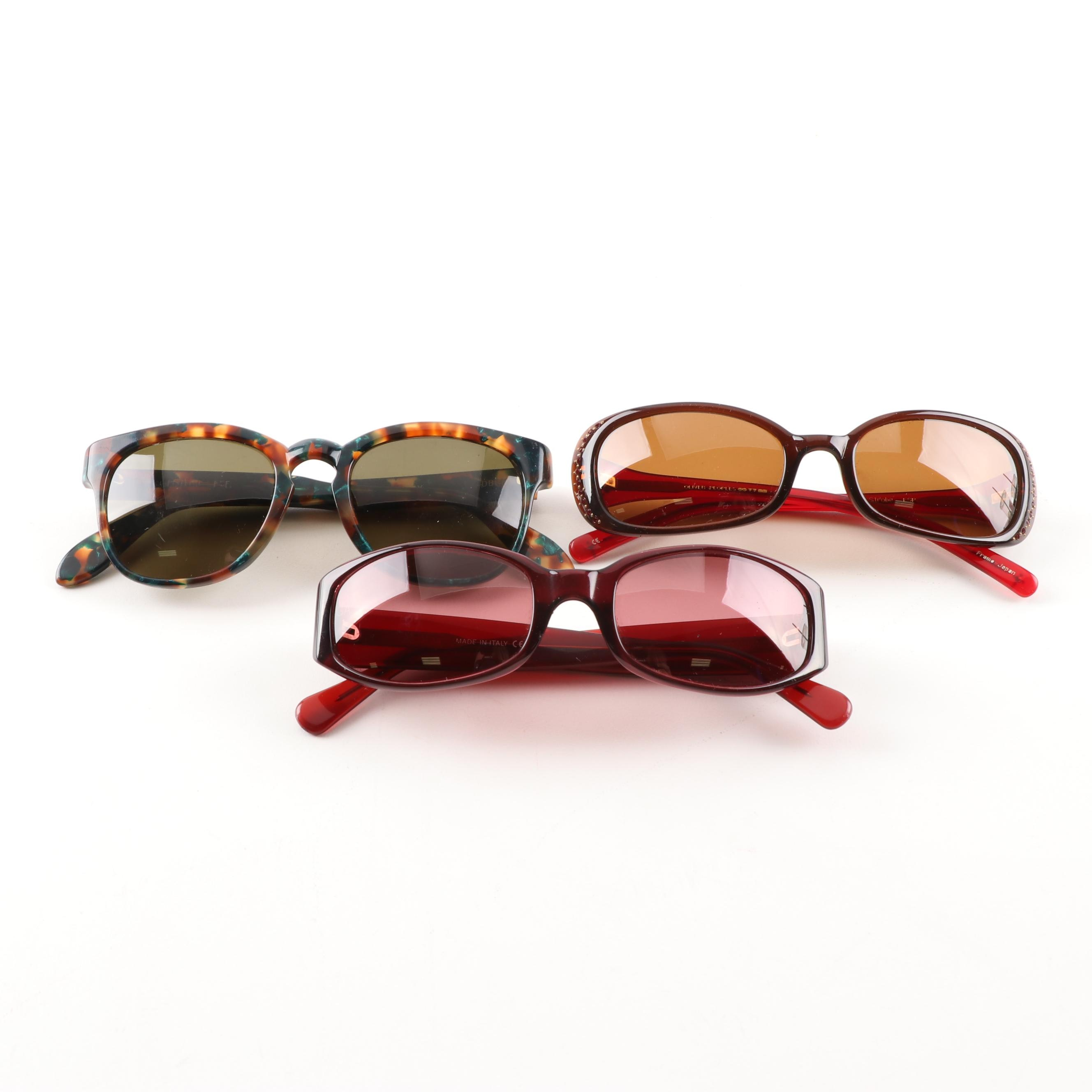 Women's Sunglasses Including Oliver Peoples