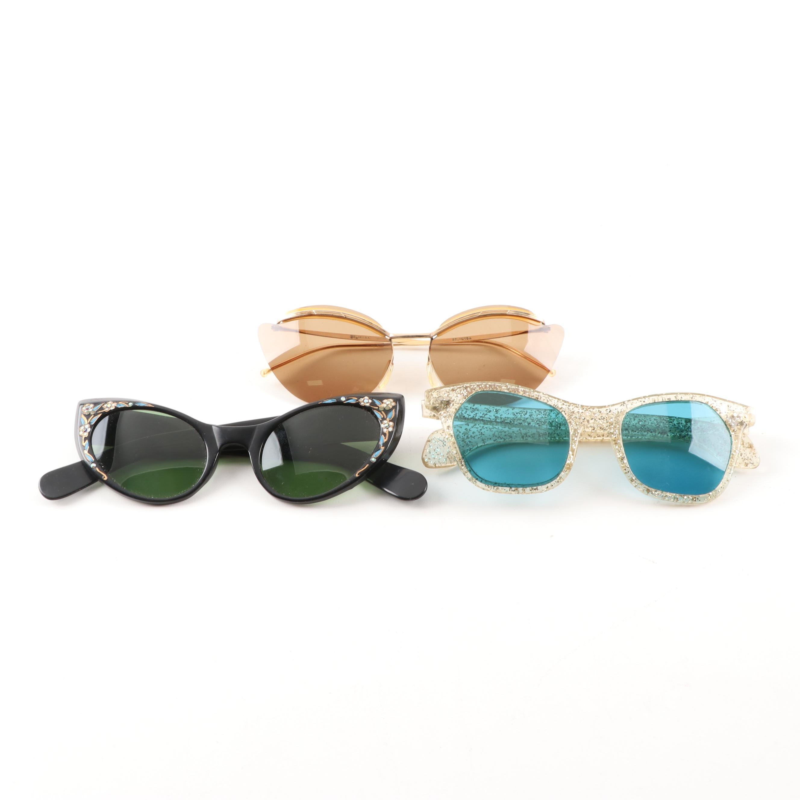 Women's Vintage Sunglasses, Mid-20th century
