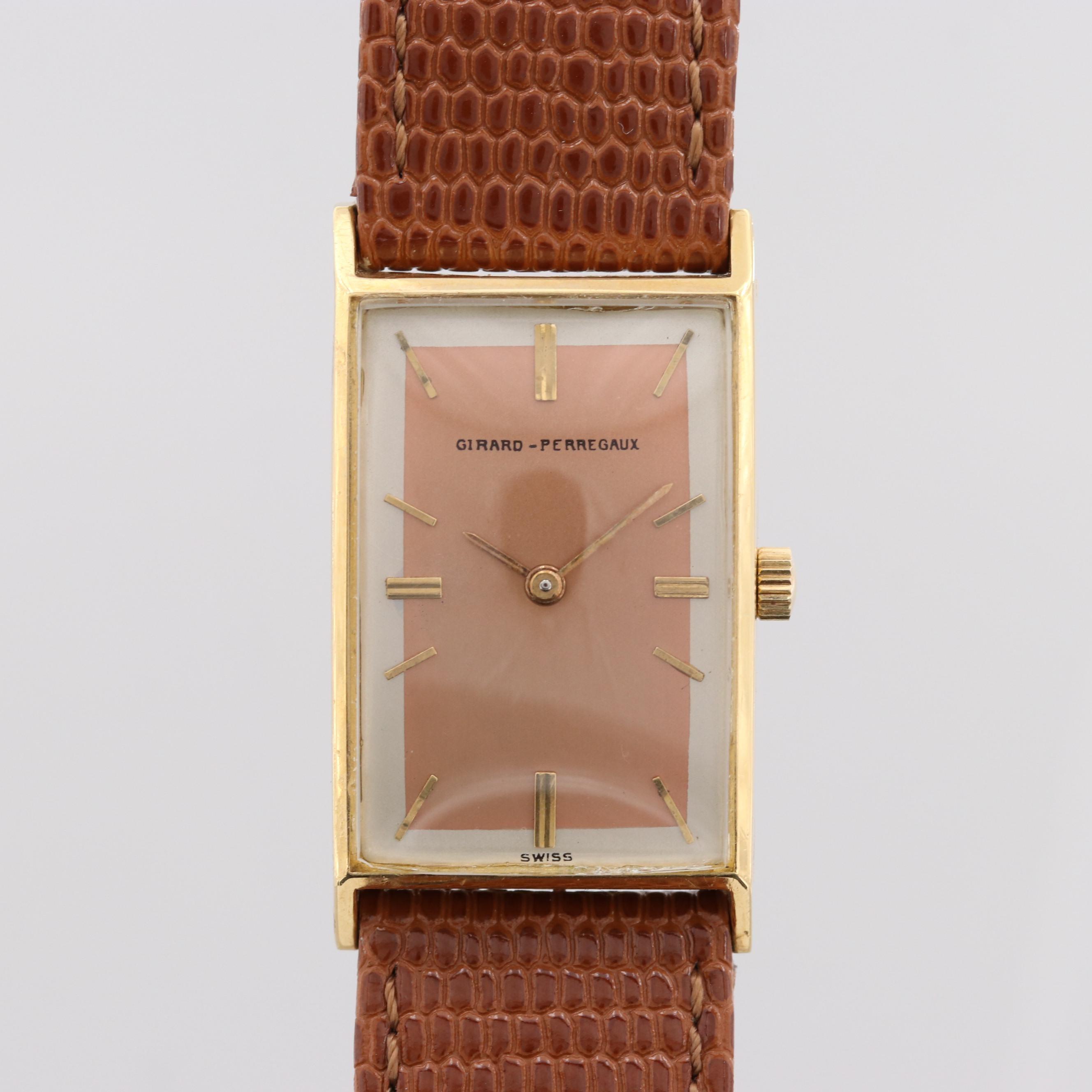 Vintage Girard - Perregaux 18K Yellow Gold Stem Wind Wristwatch