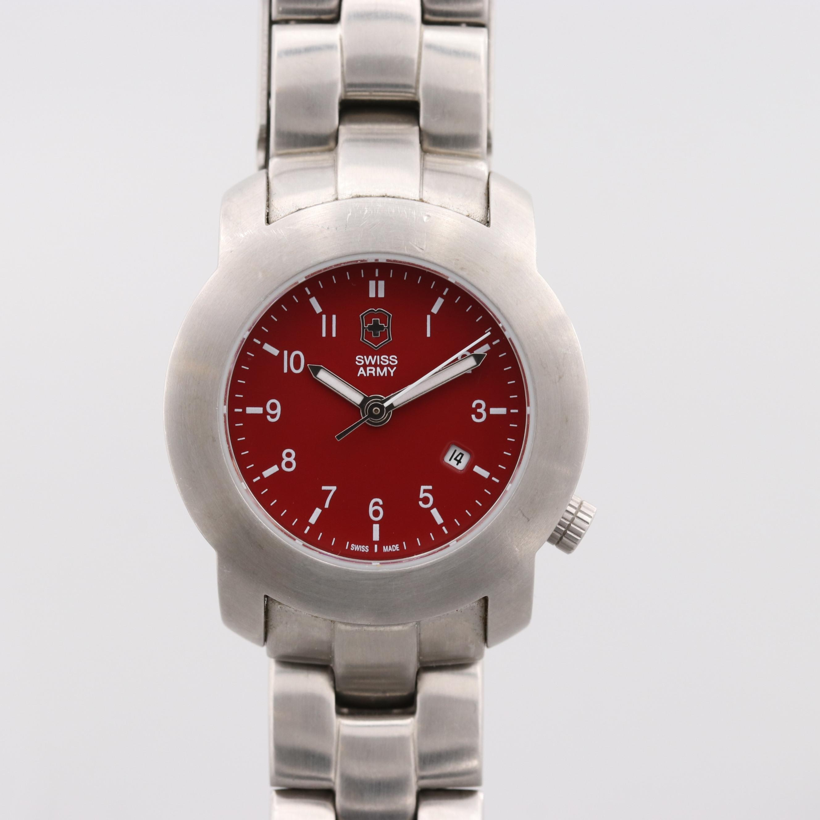 Swiss Army Stainless Steel Wristwatch With Date Window