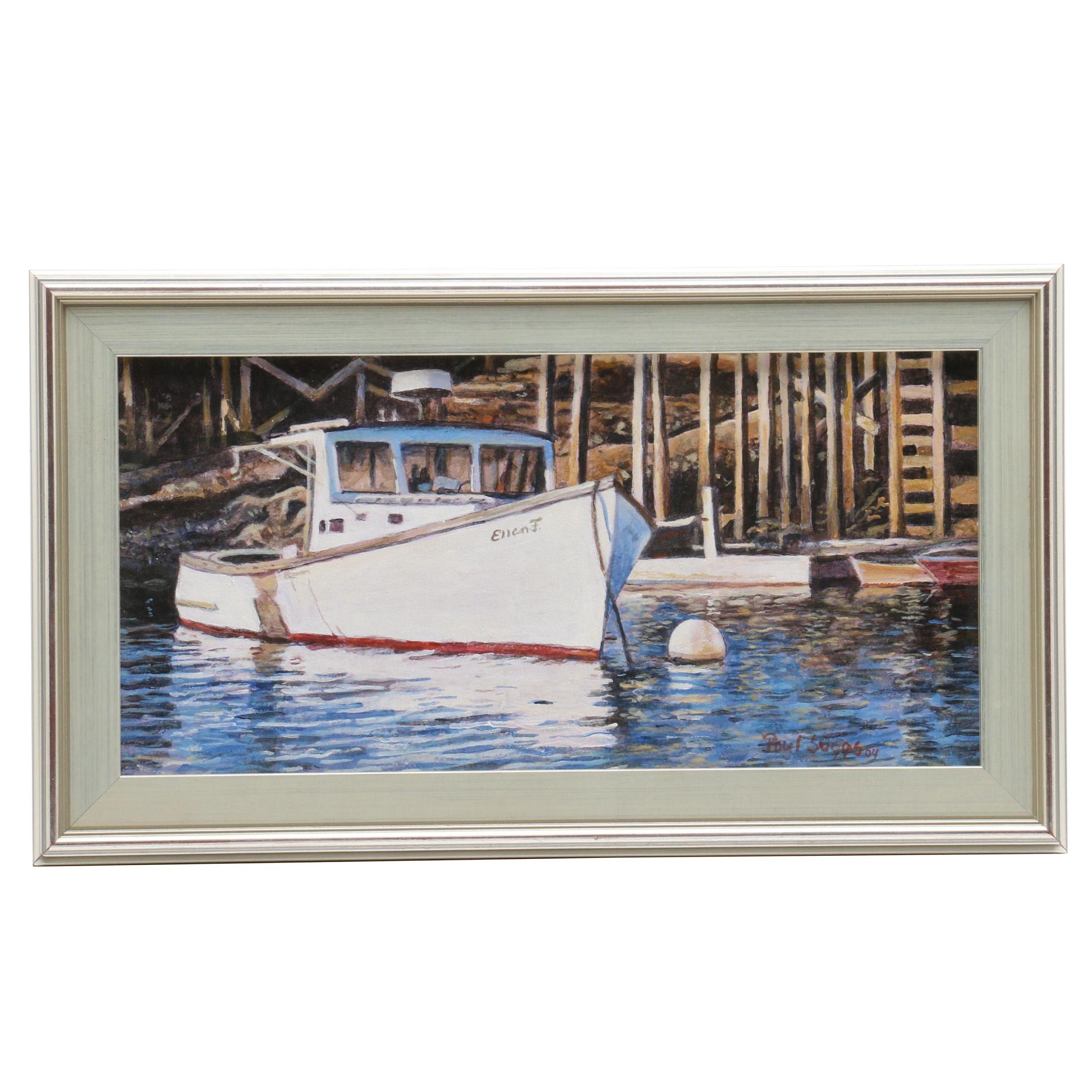 "Paul Suggs Acrylic Painting ""Ellen F"""