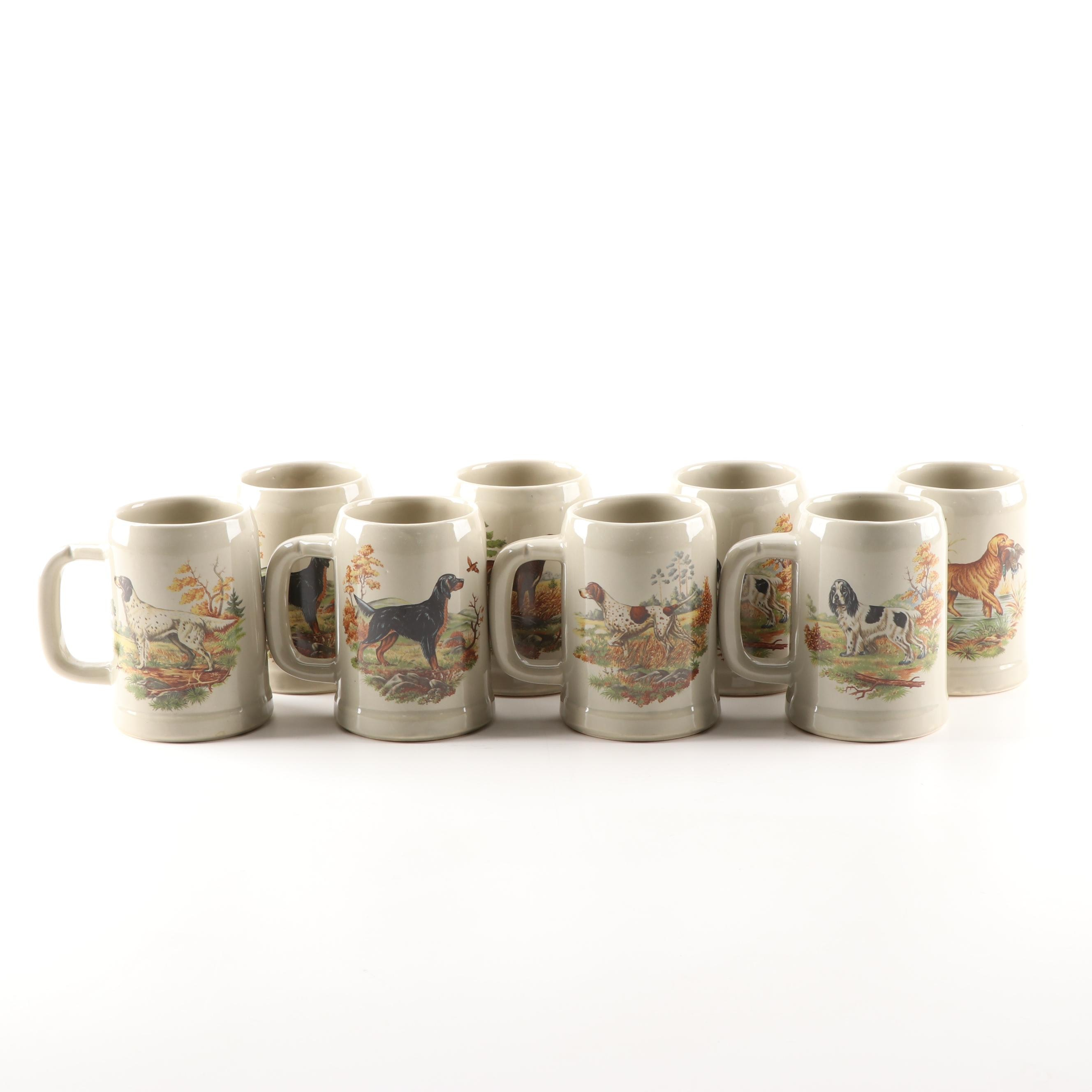"Nelson McCoy Pottery ""Steins Line"" Dog Steins"