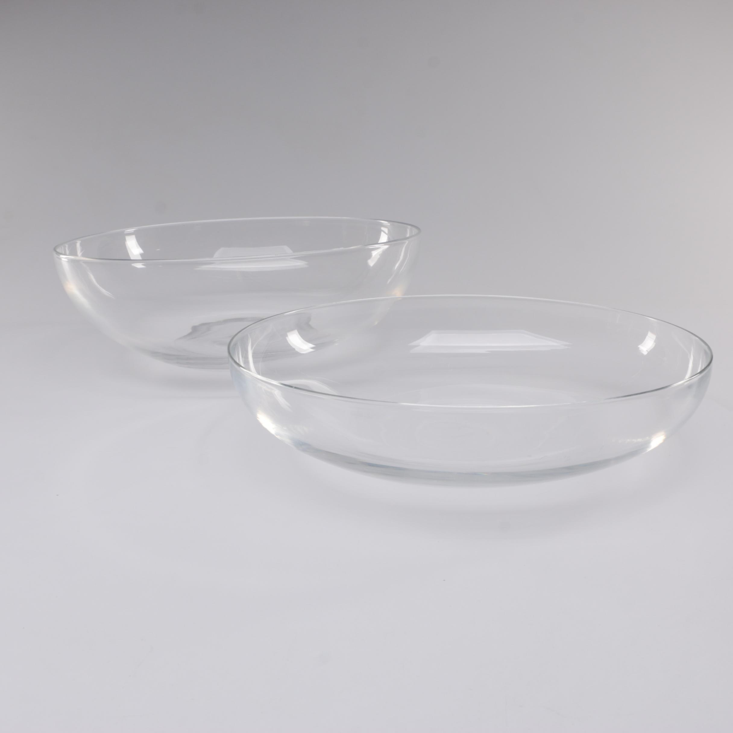 Steuben Art Glass Serving Bowls, Mid-Century