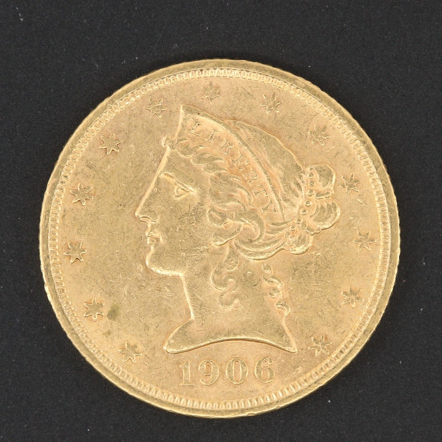 1906-S Liberty Head $5 Gold Coin