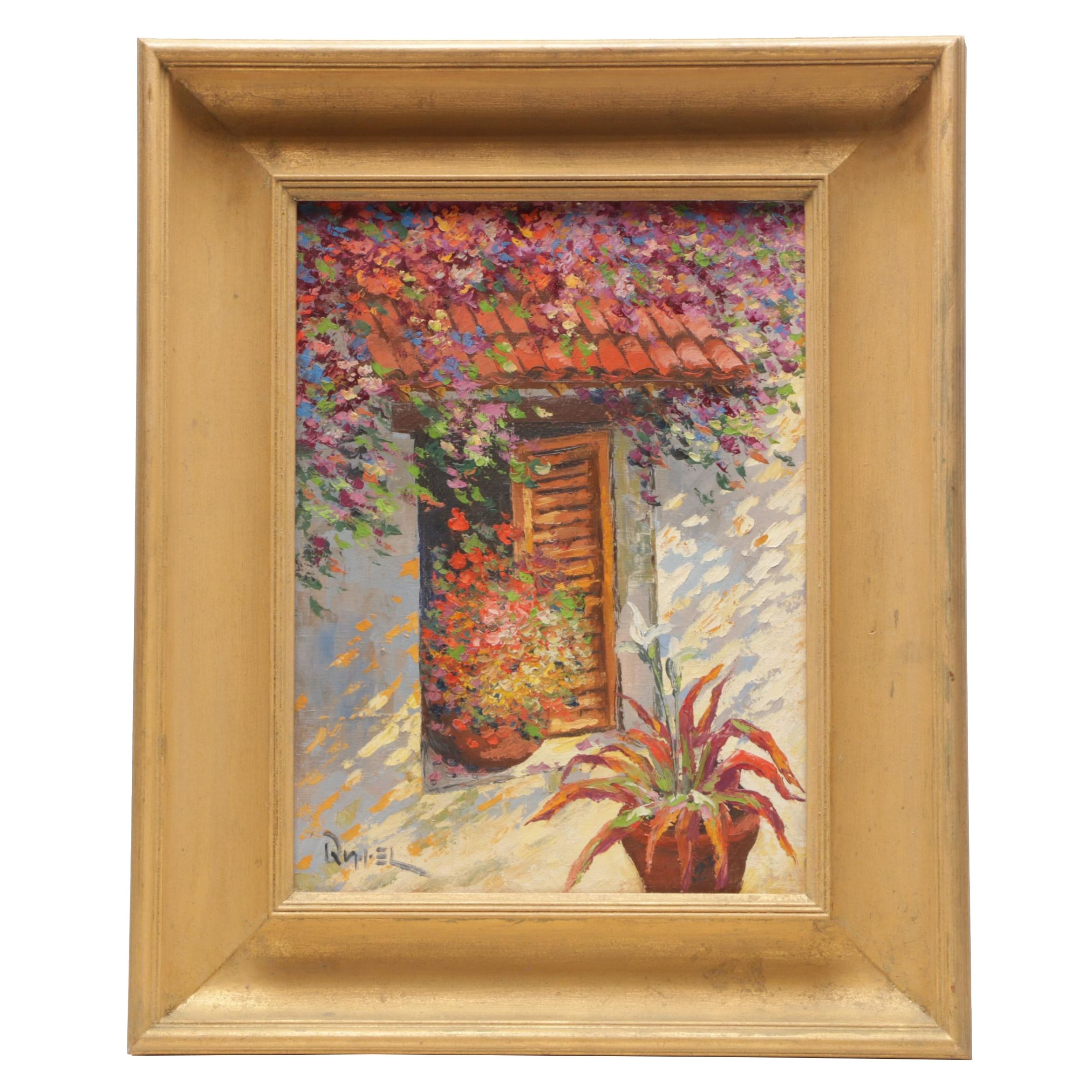 "Oleo Oil Painting ""Ventana Florida"""